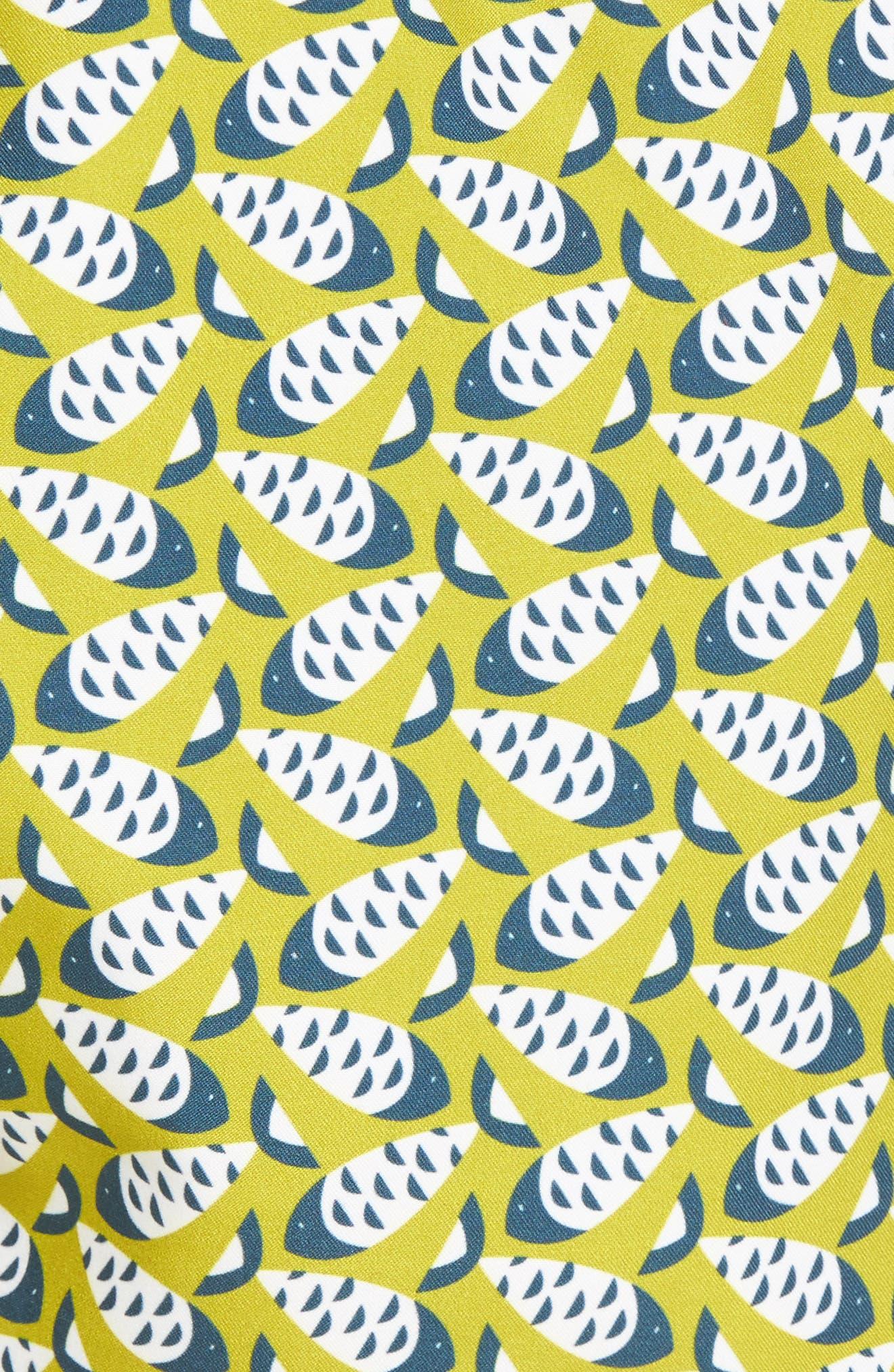 Loxham Fish Geo Print Swim Short,                             Alternate thumbnail 9, color,