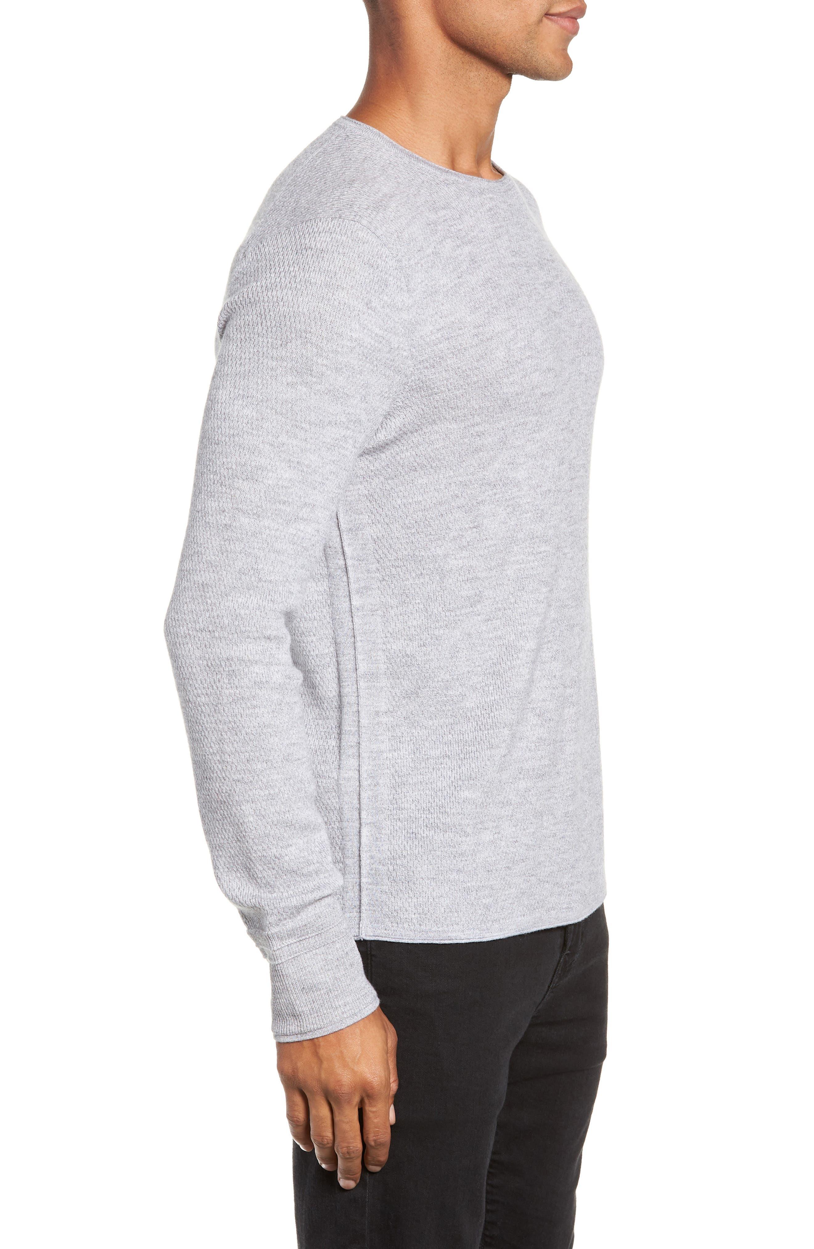 Gregory Merino Wool Blend Crewneck Sweater,                             Alternate thumbnail 3, color,                             GREY