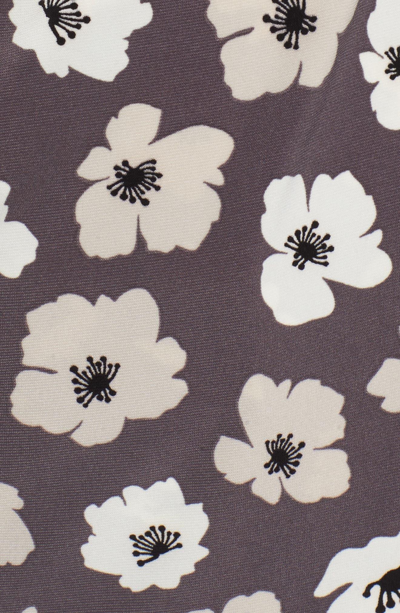 Faux Wrap Floral Top,                             Alternate thumbnail 6, color,                             020