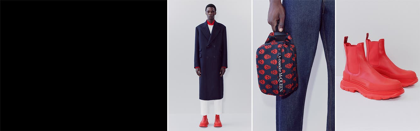 Alexander McQueen collection: men's clothing, shoes and accessories.