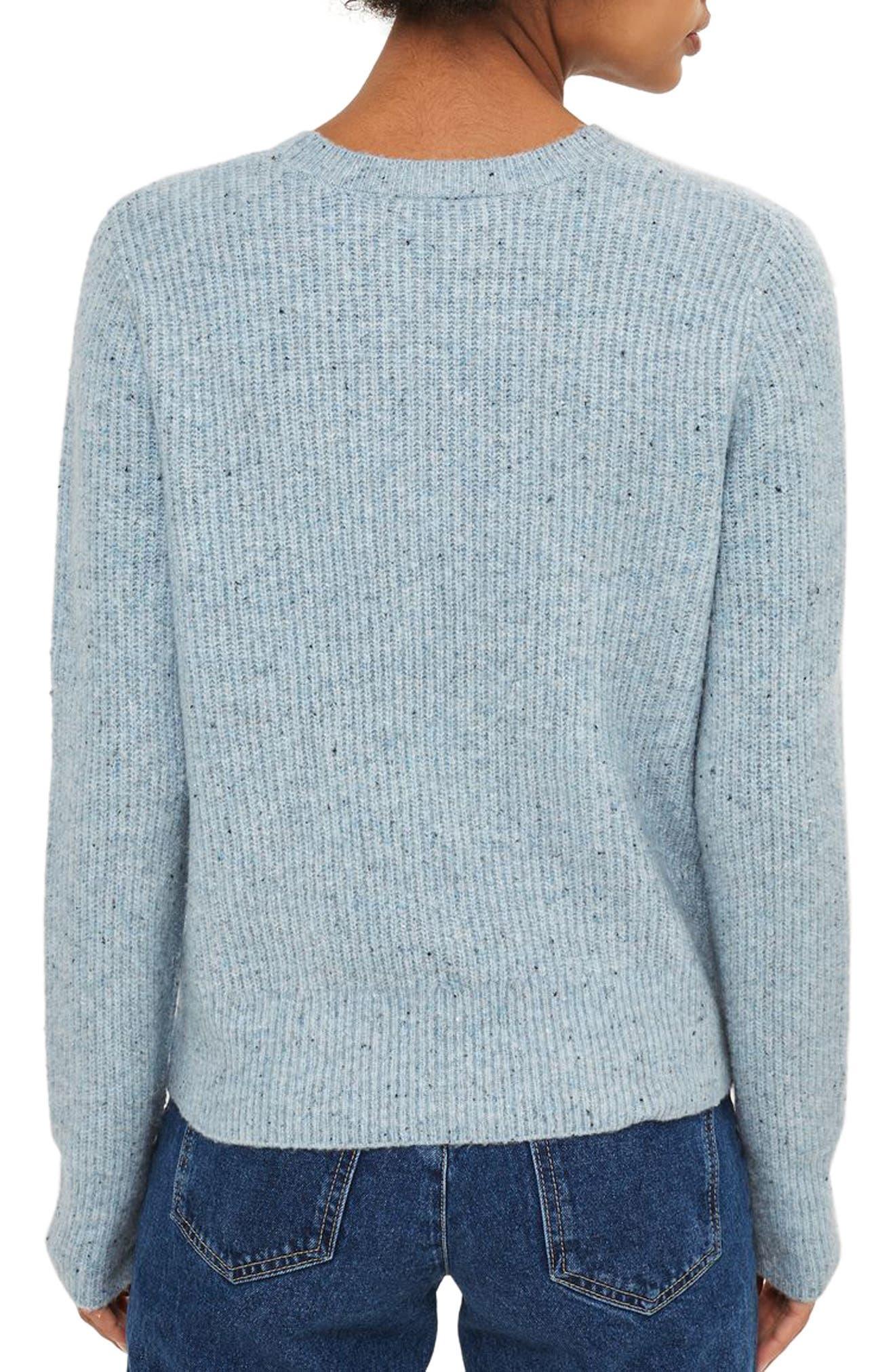 Ribbed Crewneck Sweater,                             Alternate thumbnail 6, color,