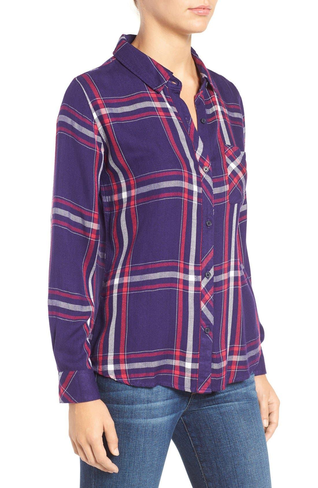 Hunter Plaid Shirt,                             Alternate thumbnail 394, color,