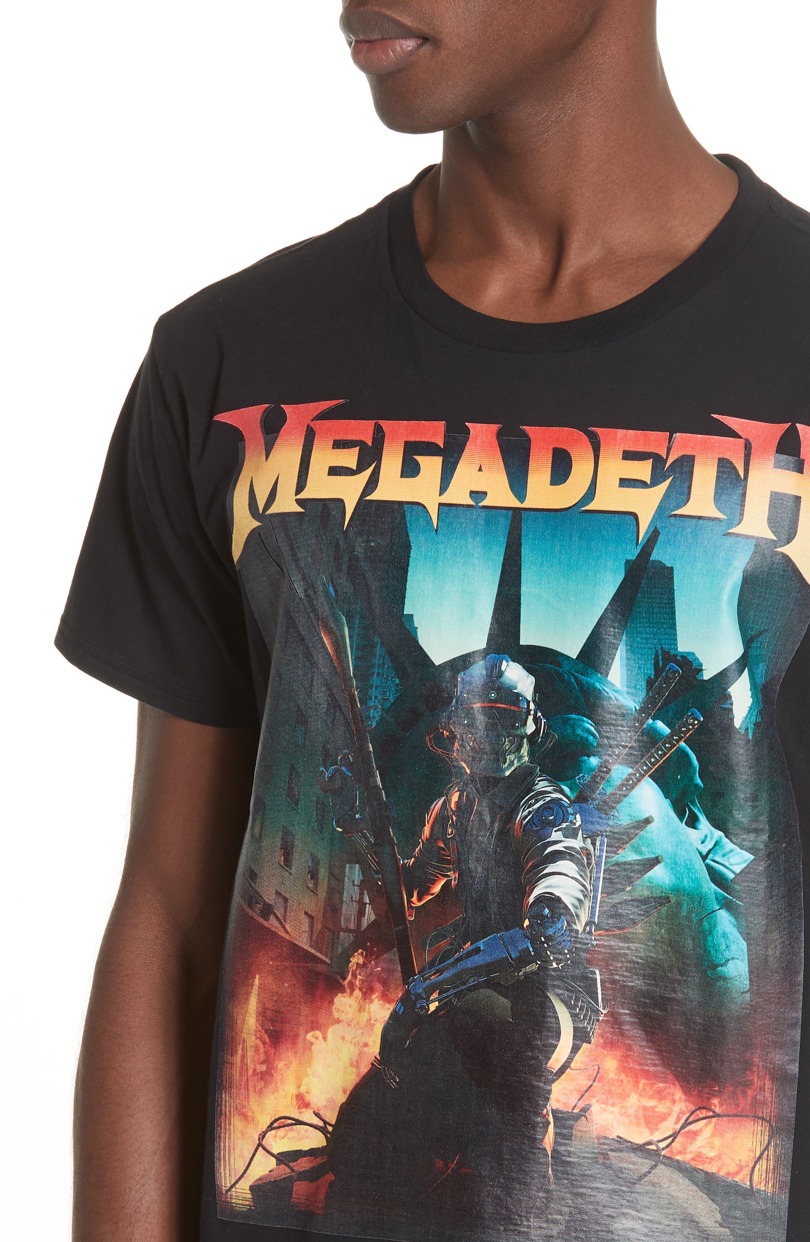 Megadeth Graphic Oversize T-Shirt,                             Alternate thumbnail 4, color,                             001
