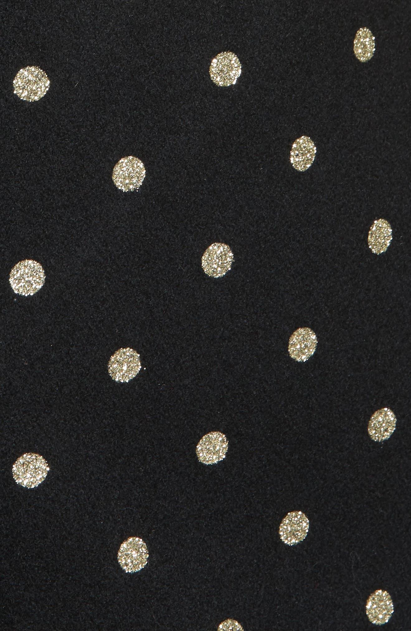 glitter dot wool blend coat,                             Alternate thumbnail 6, color,                             001