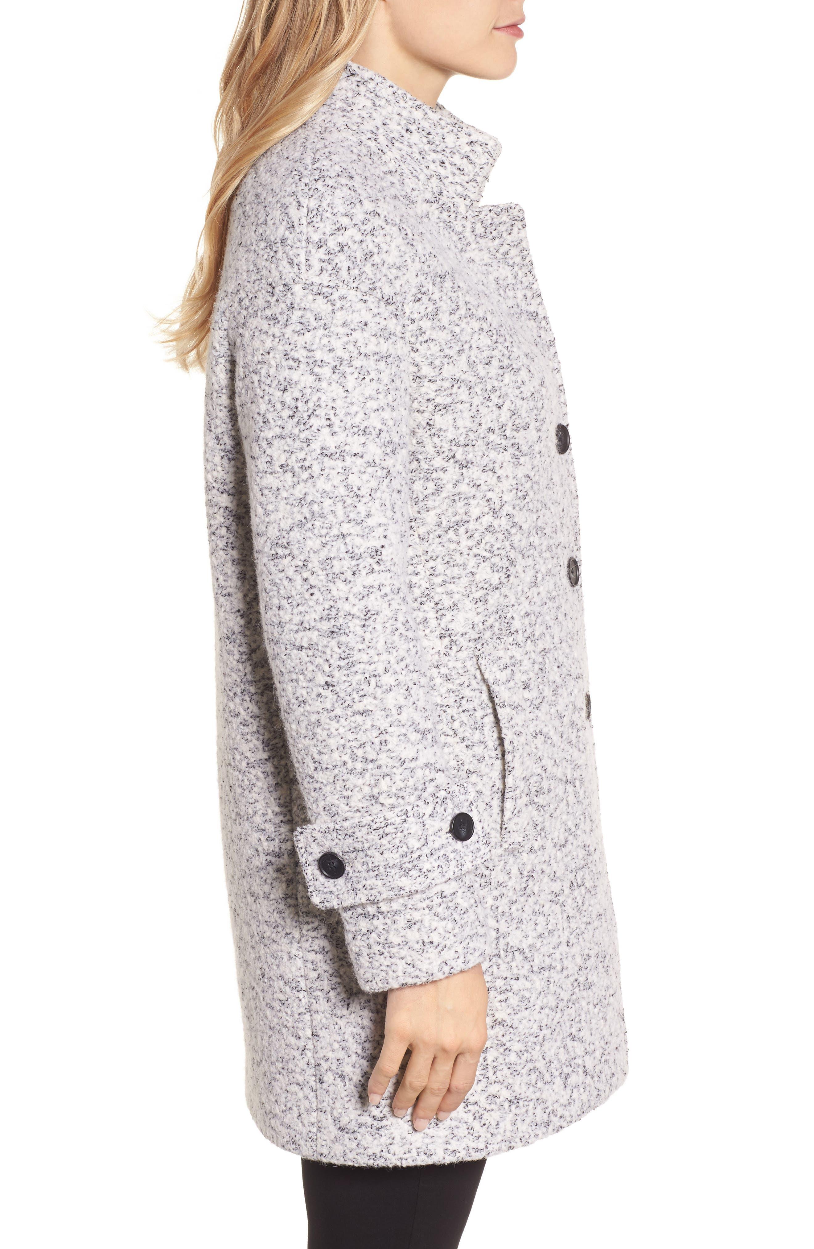 Boiled Wool Coat,                             Alternate thumbnail 3, color,                             056