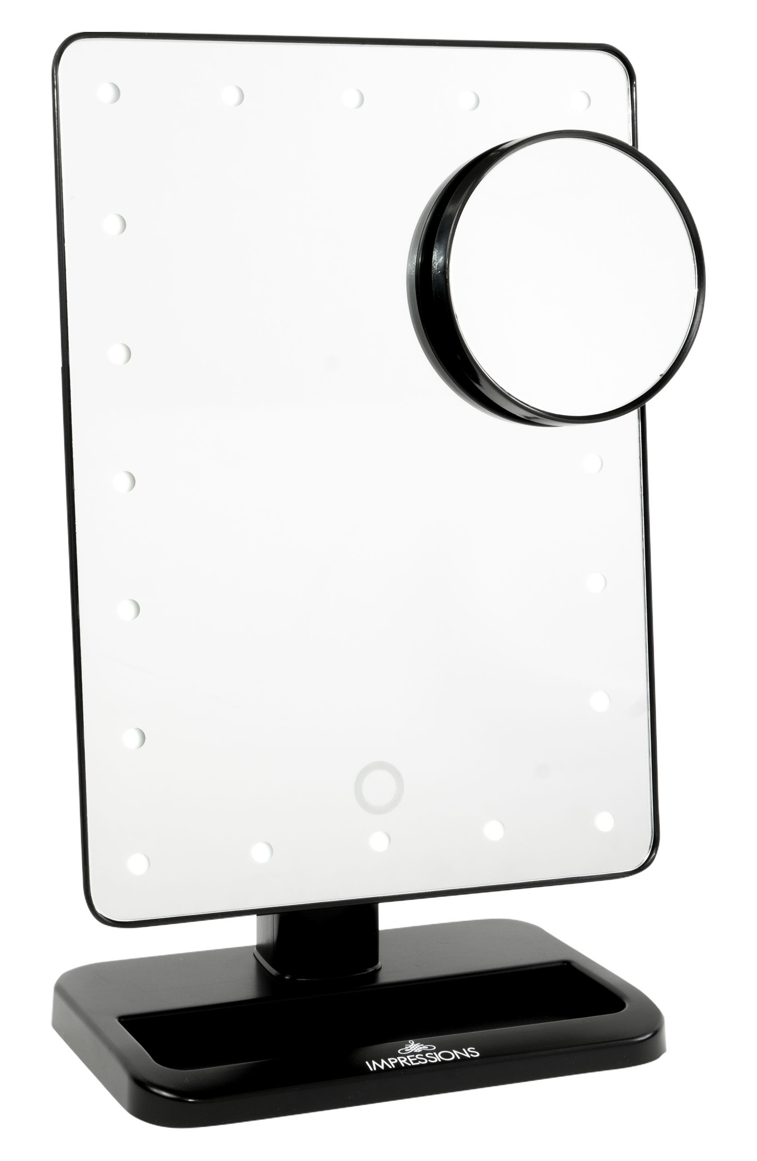 Touch XL Dimmable LED Makeup Mirror with Removable 5x Mirror,                             Main thumbnail 1, color,                             001