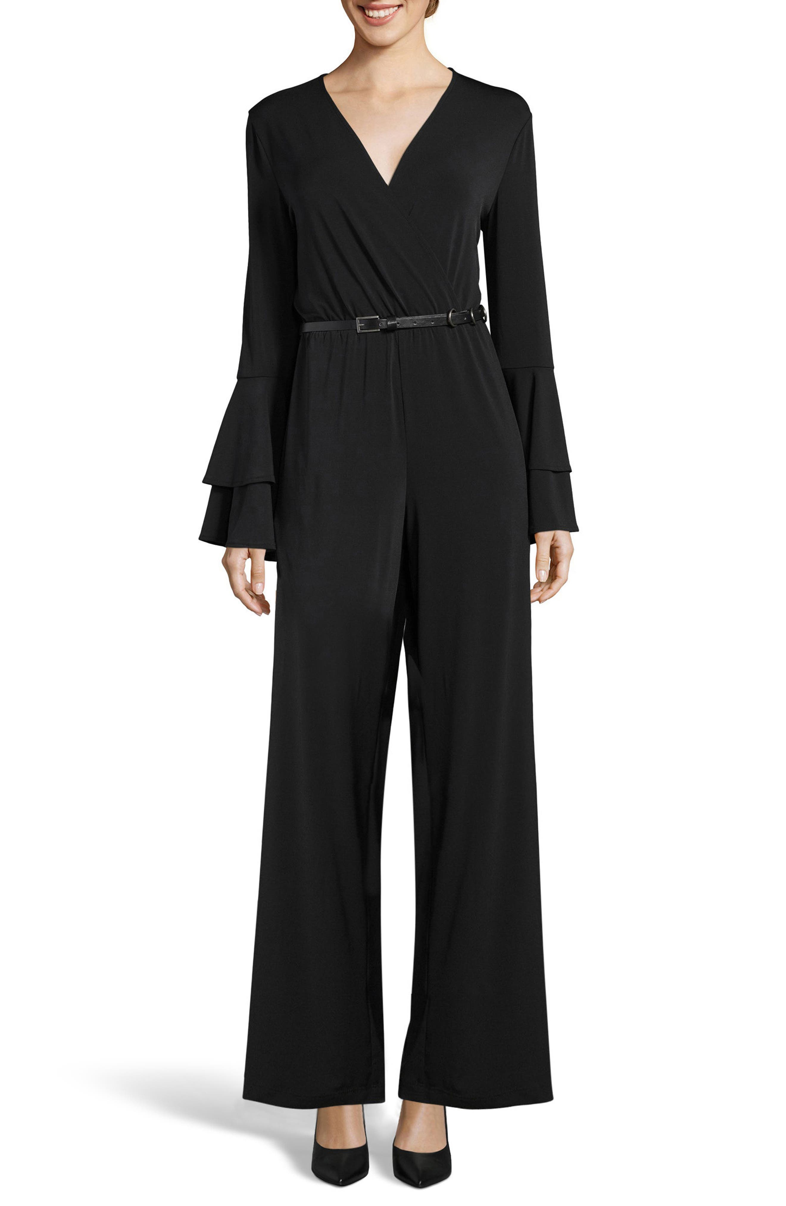 Bell Sleeve Jumpsuit,                         Main,                         color, 001