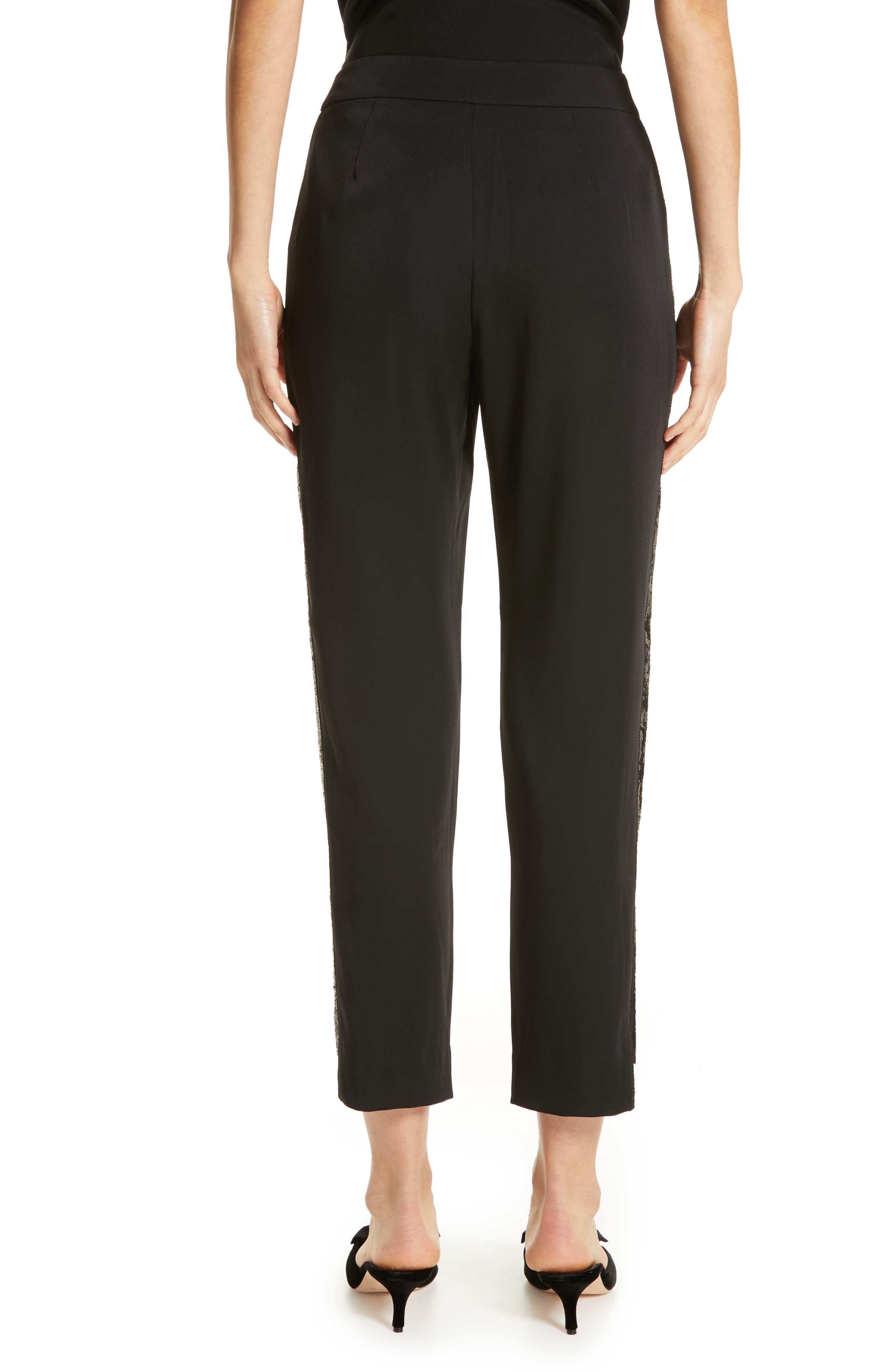 Polliit Sequin Side Panel Pants,                             Alternate thumbnail 2, color,                             BLACK