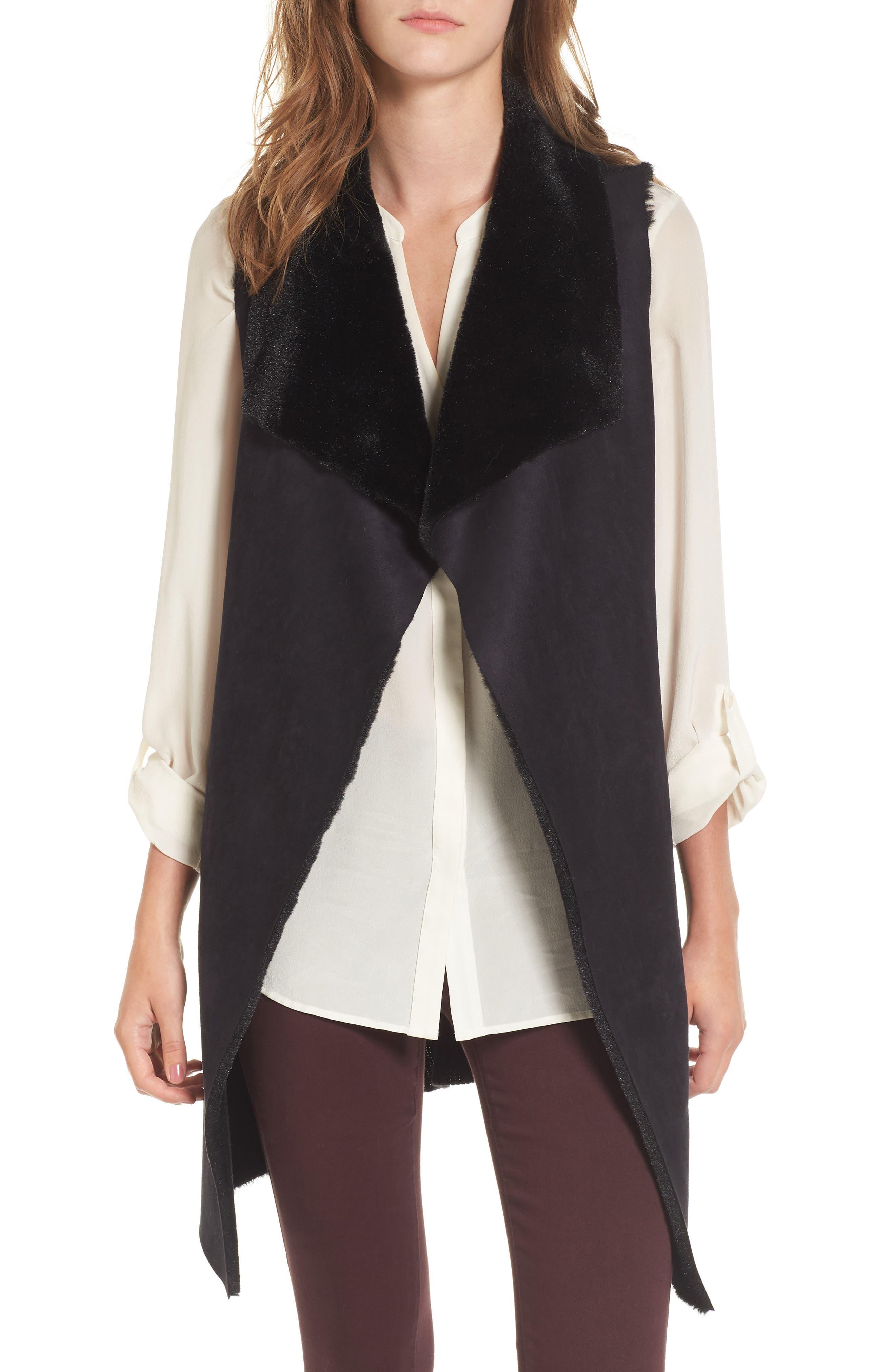 Faux Shearling Vest,                         Main,                         color,