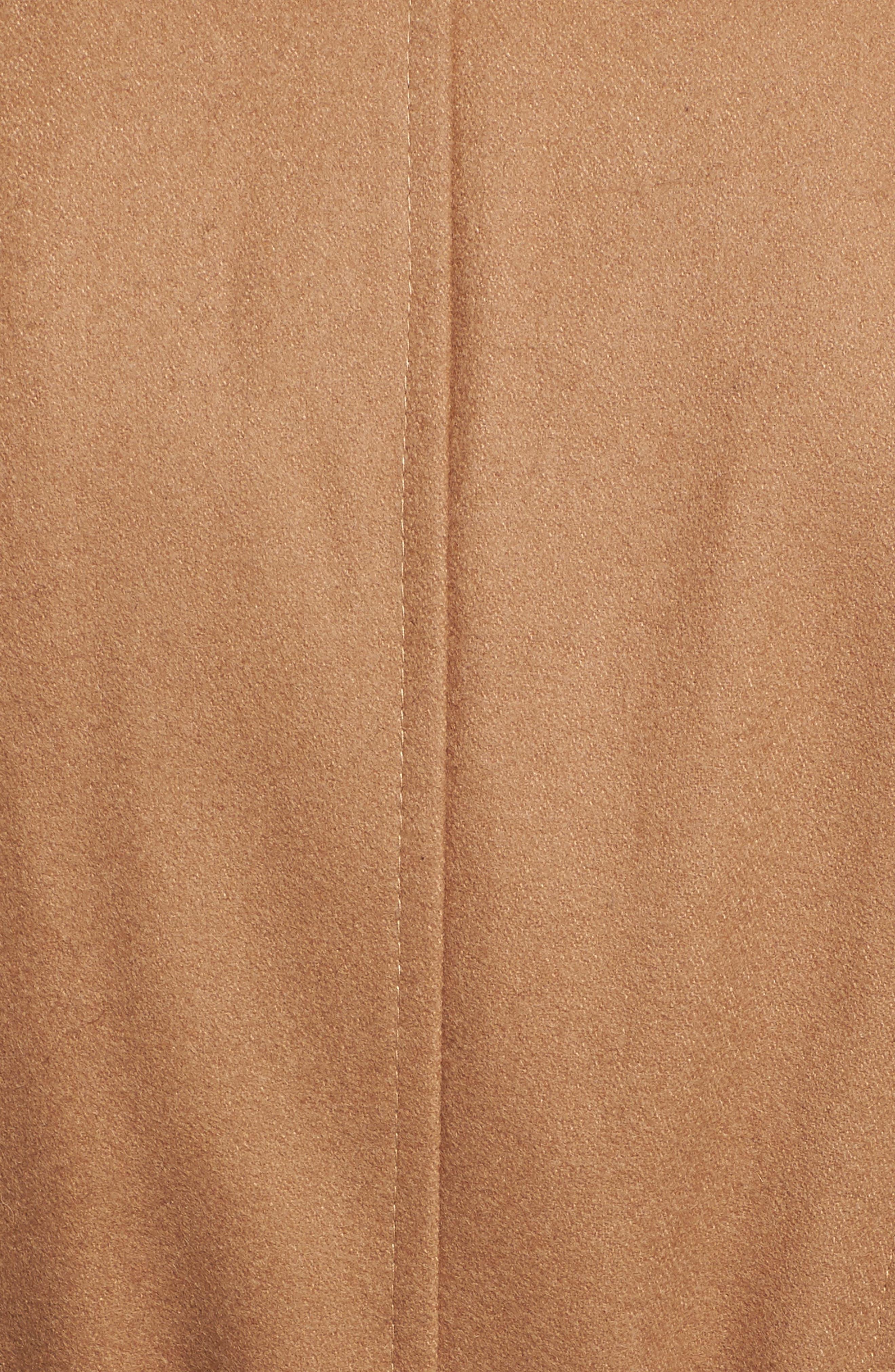 Faux Leather & Faux Fur Trim Belted Wool Blend Coat,                             Alternate thumbnail 40, color,