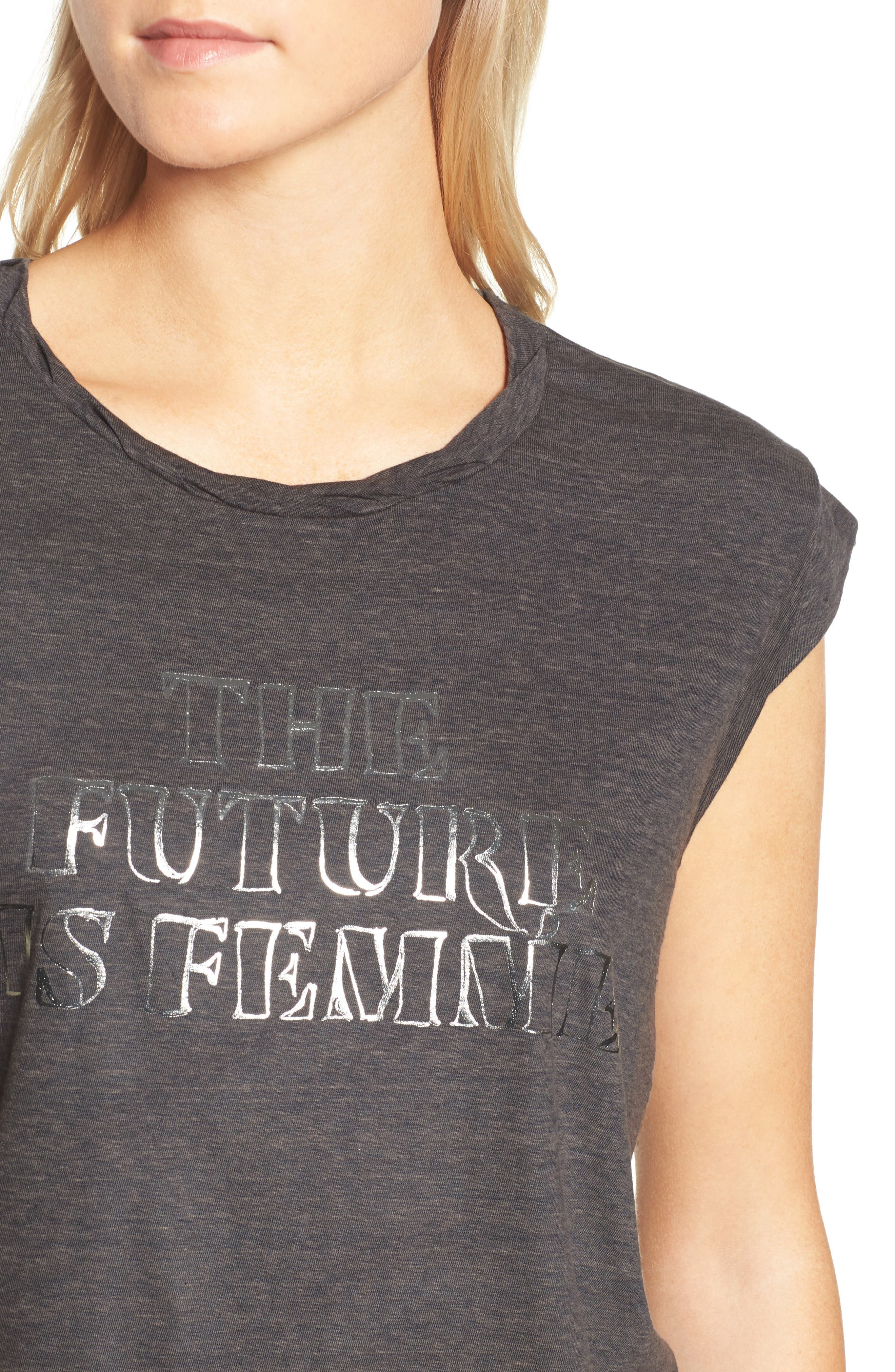 Frankie - The Future is Femme Muscle Tank,                             Alternate thumbnail 4, color,                             024