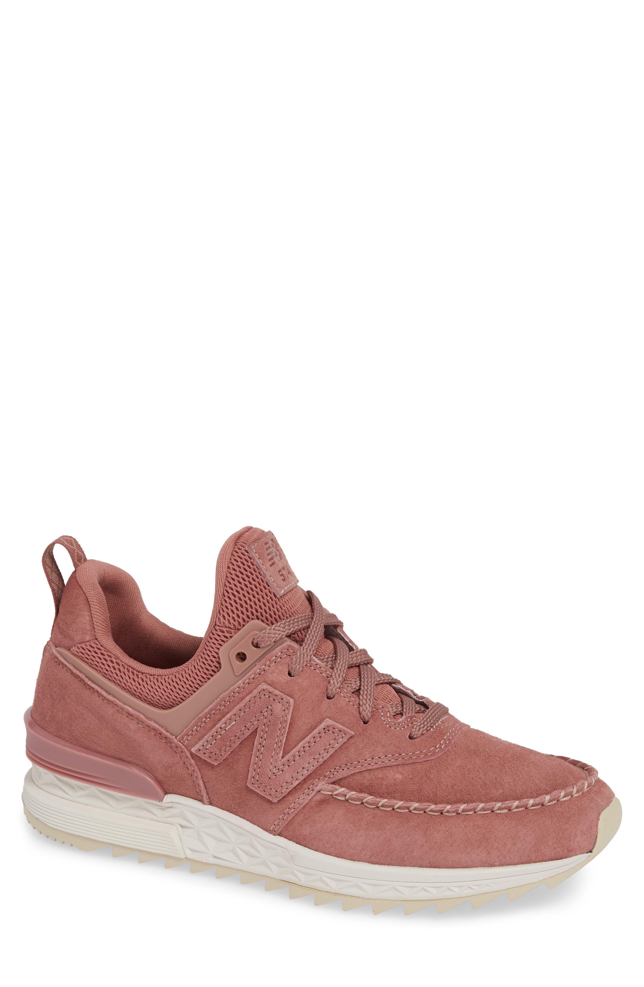 574 Sport Sneaker,                         Main,                         color, DARK OXIDE SUEDE/ MESH