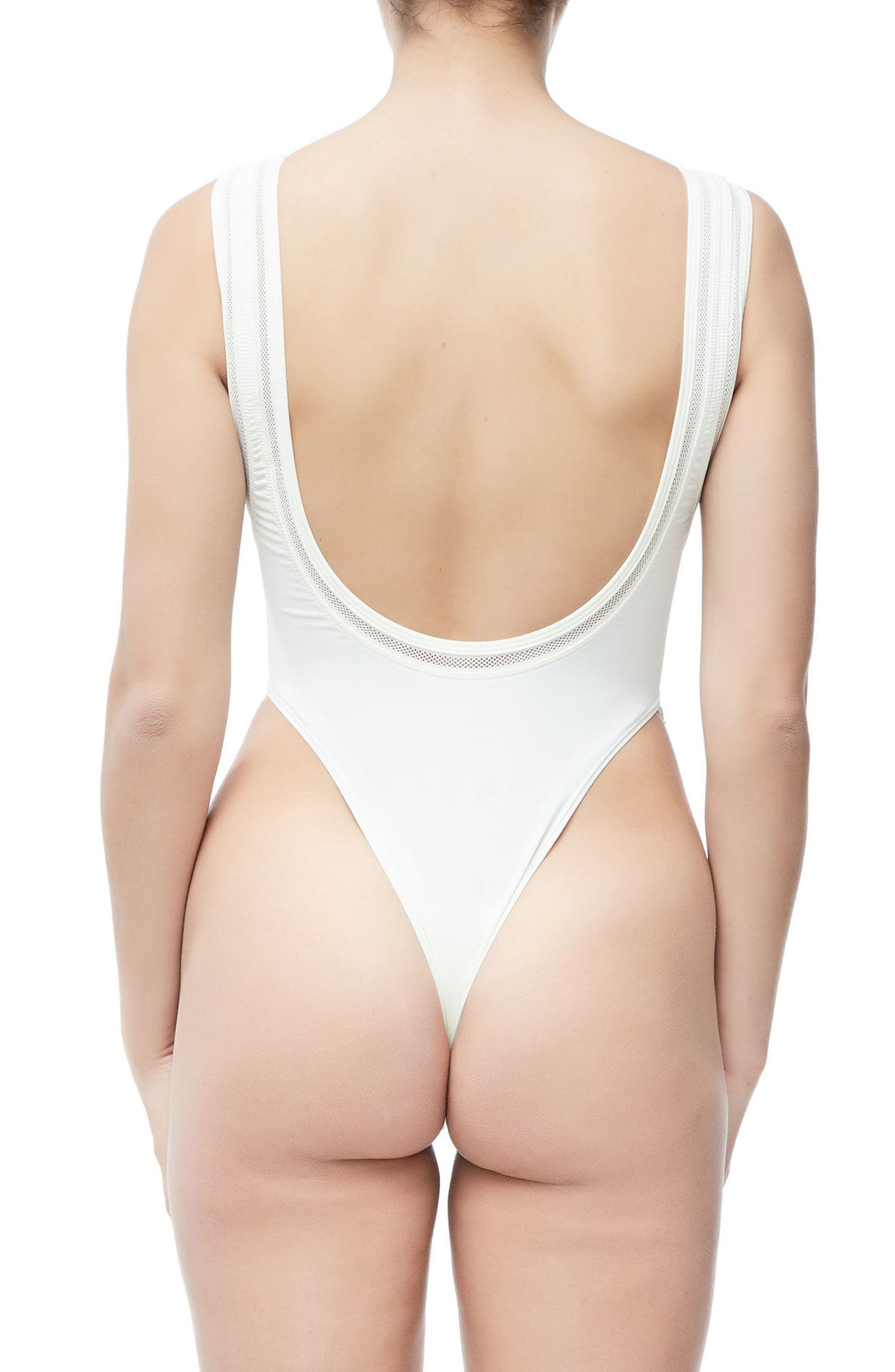 GOOD AMERICAN,                             Good Body Khlo Thong Bodysuit,                             Alternate thumbnail 2, color,                             120