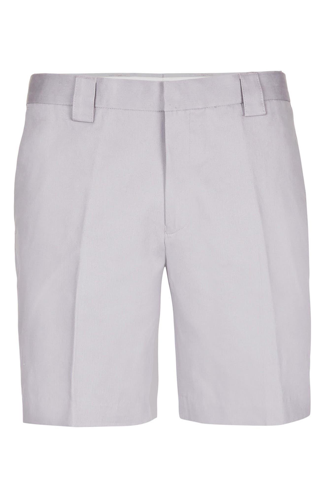 Twill Trouser Shorts,                             Alternate thumbnail 4, color,                             020