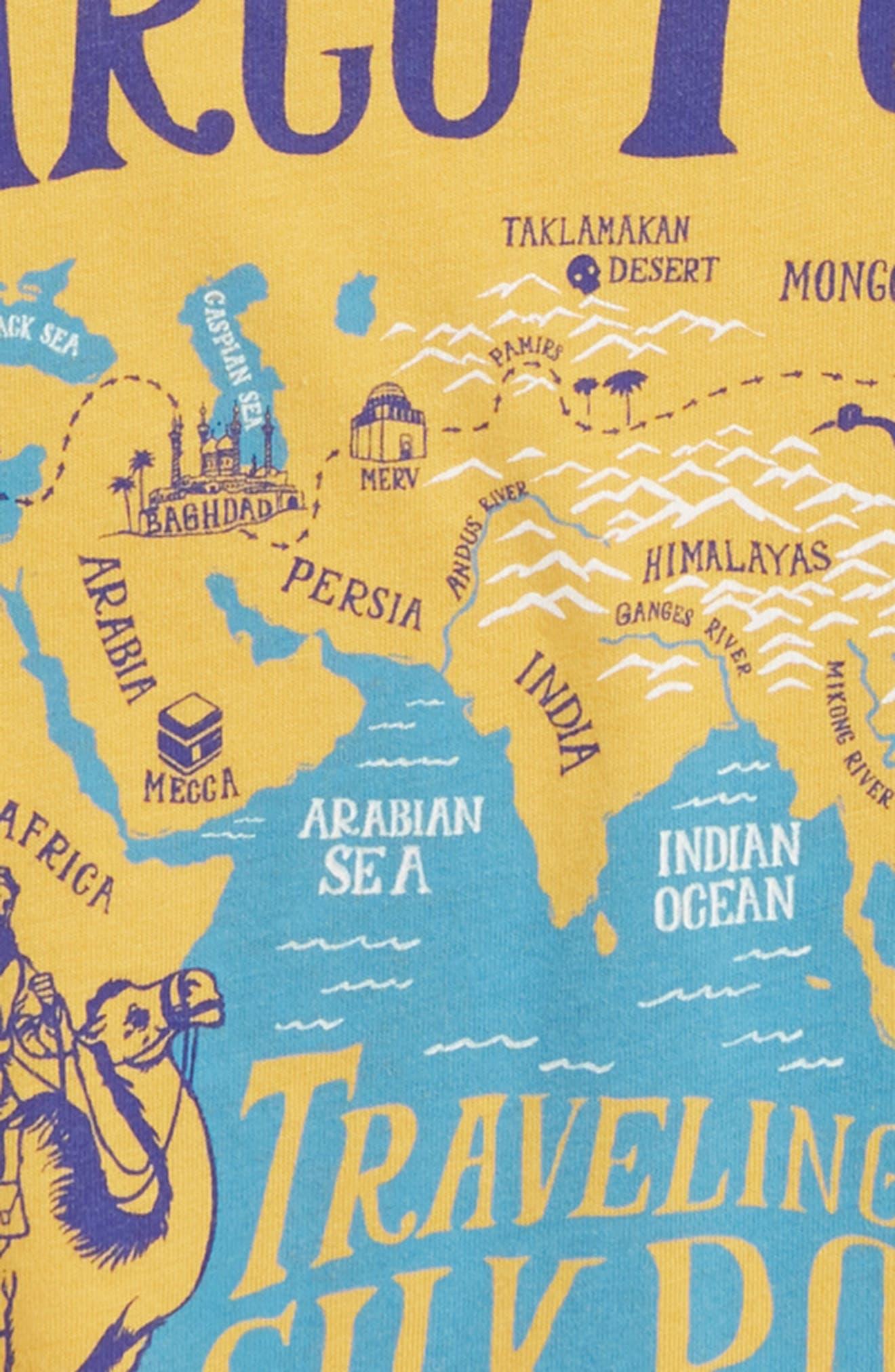 Silk Road T-Shirt,                             Alternate thumbnail 2, color,                             MUSTARD