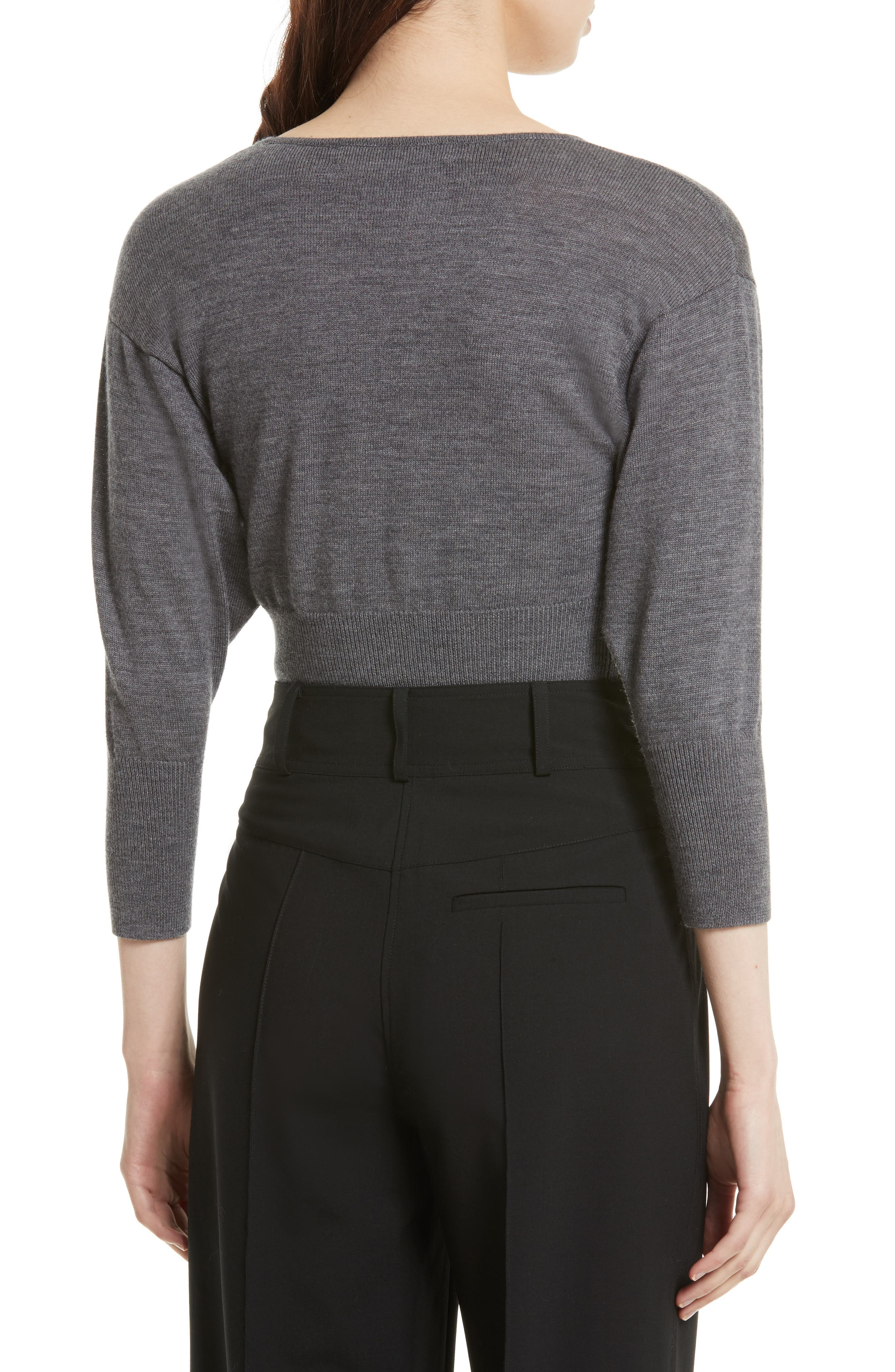 Merino Crop Sweater,                             Alternate thumbnail 2, color,