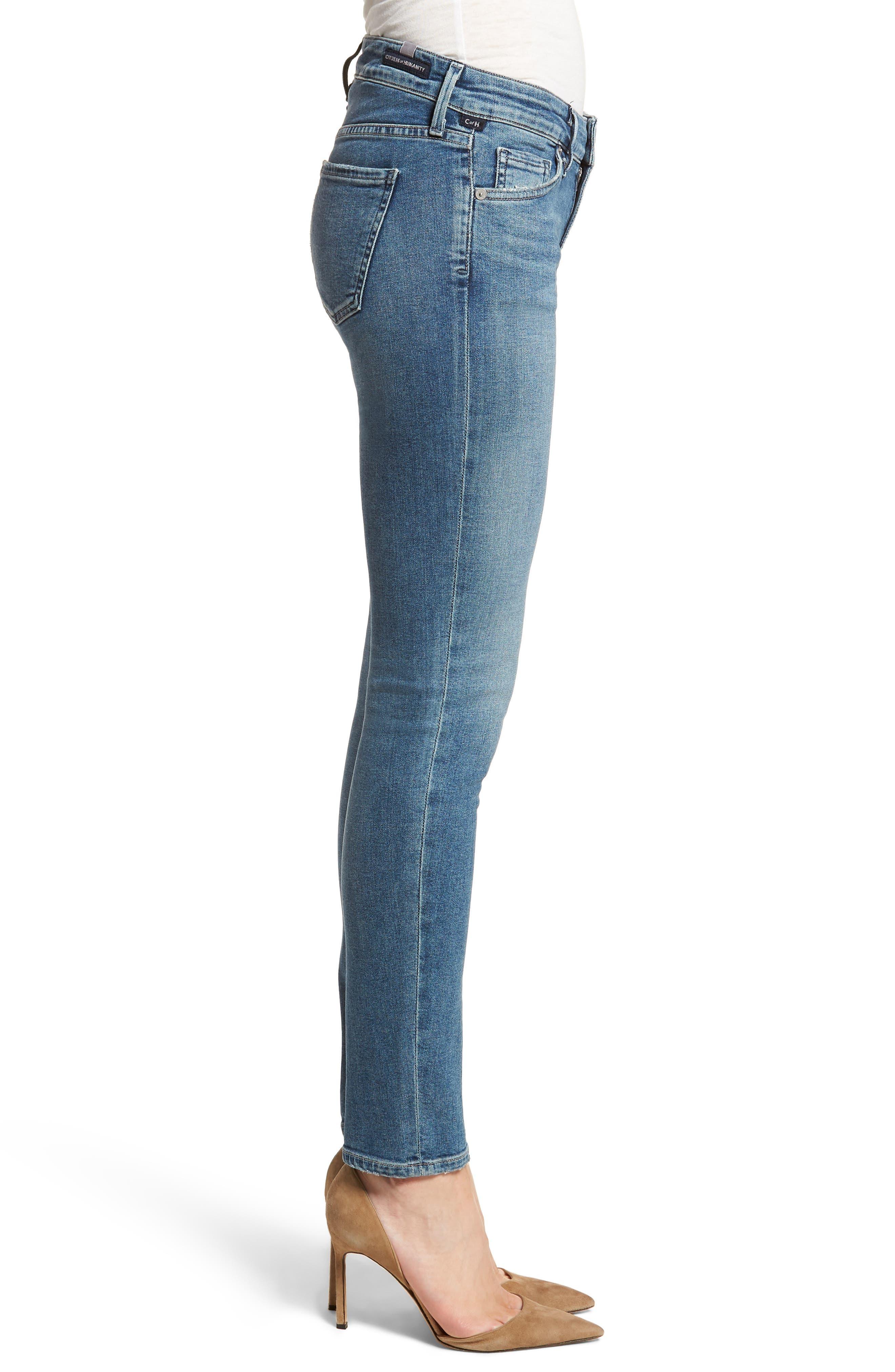 Racer Skinny Jeans,                             Alternate thumbnail 3, color,                             462