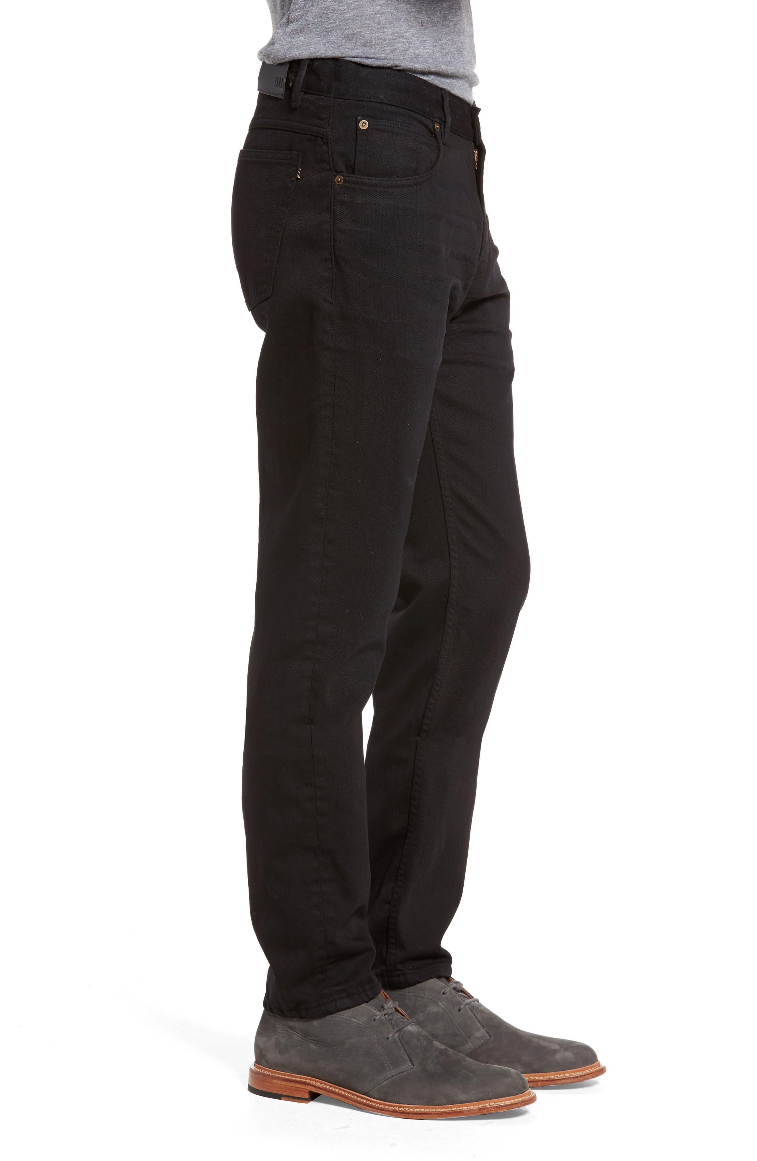 Slim Straight Leg Pants,                             Alternate thumbnail 3, color,                             001