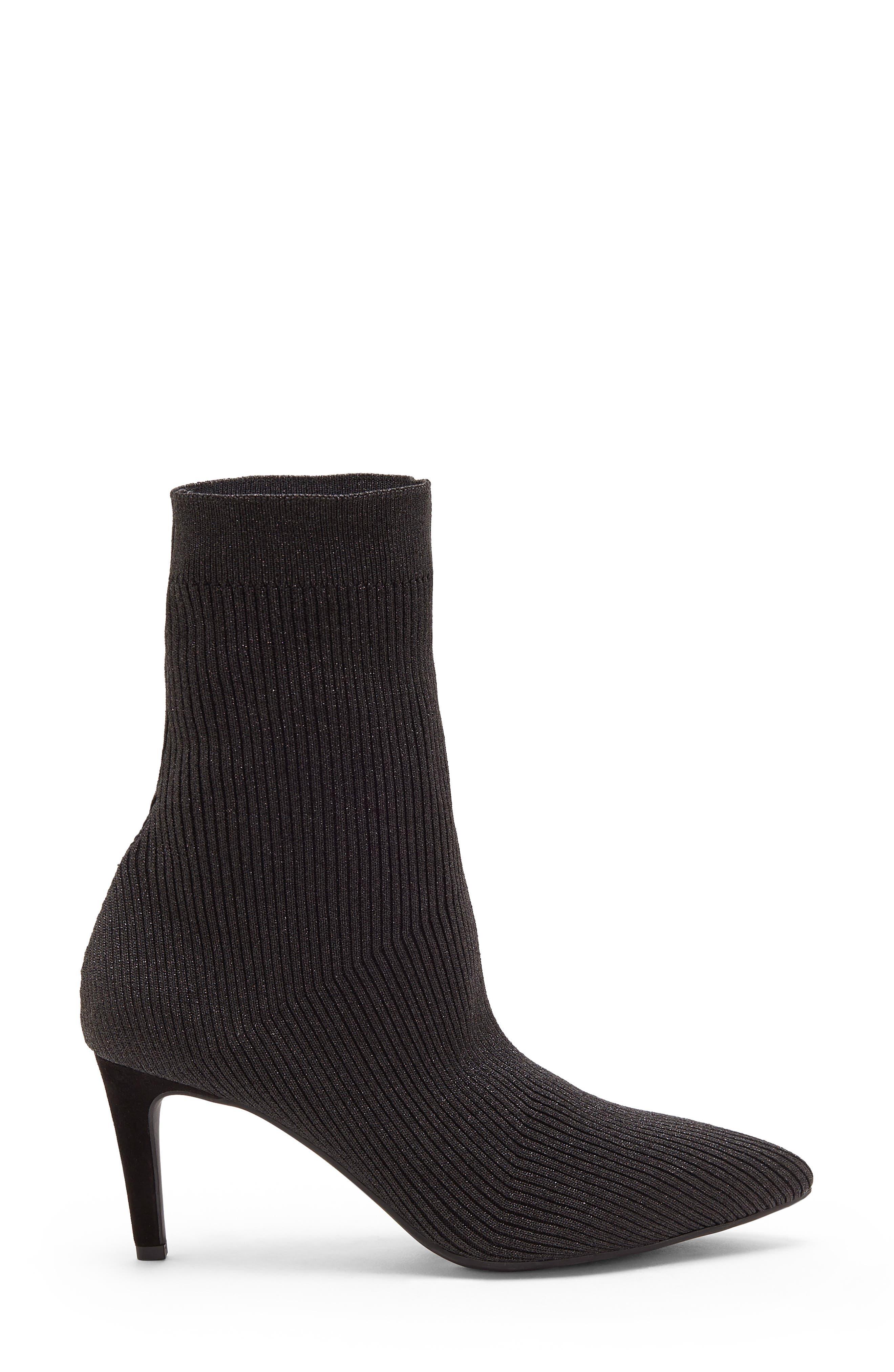 Roreeta Sock Boot,                             Alternate thumbnail 3, color,                             BLACK FABRIC