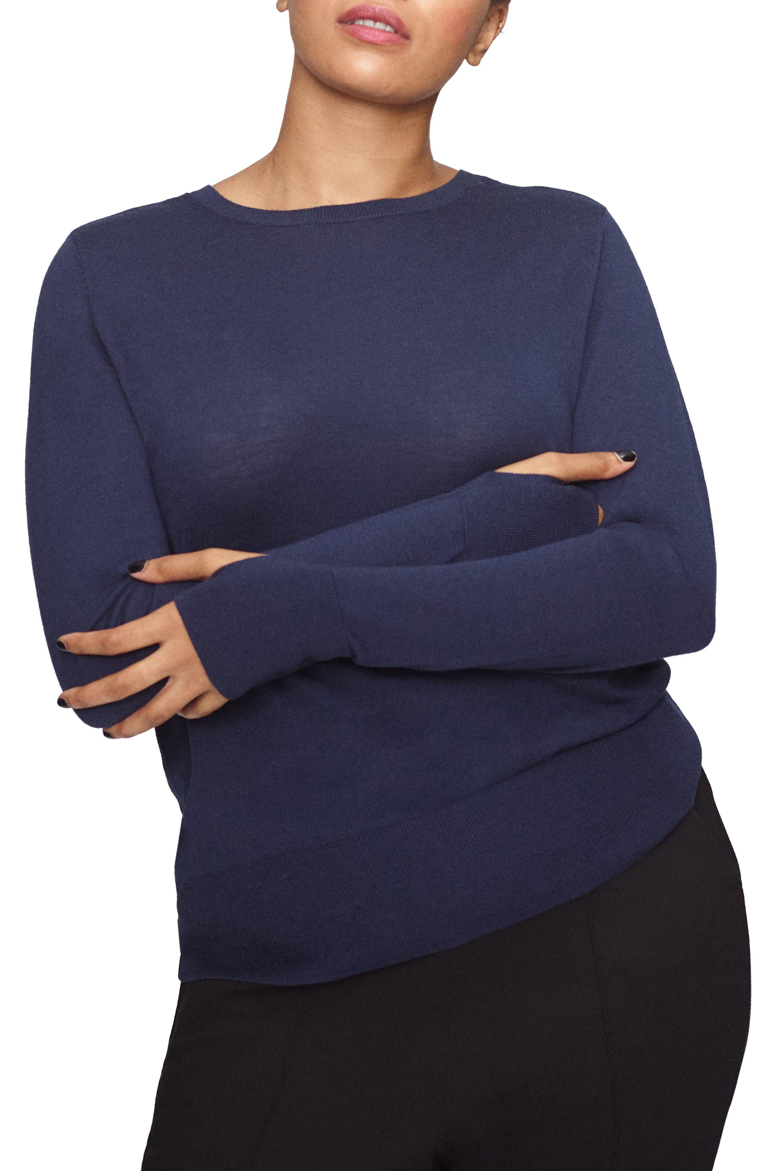 Plus Size Universal Standard Merino Wool Sweater, Size L (2-2) - Blue