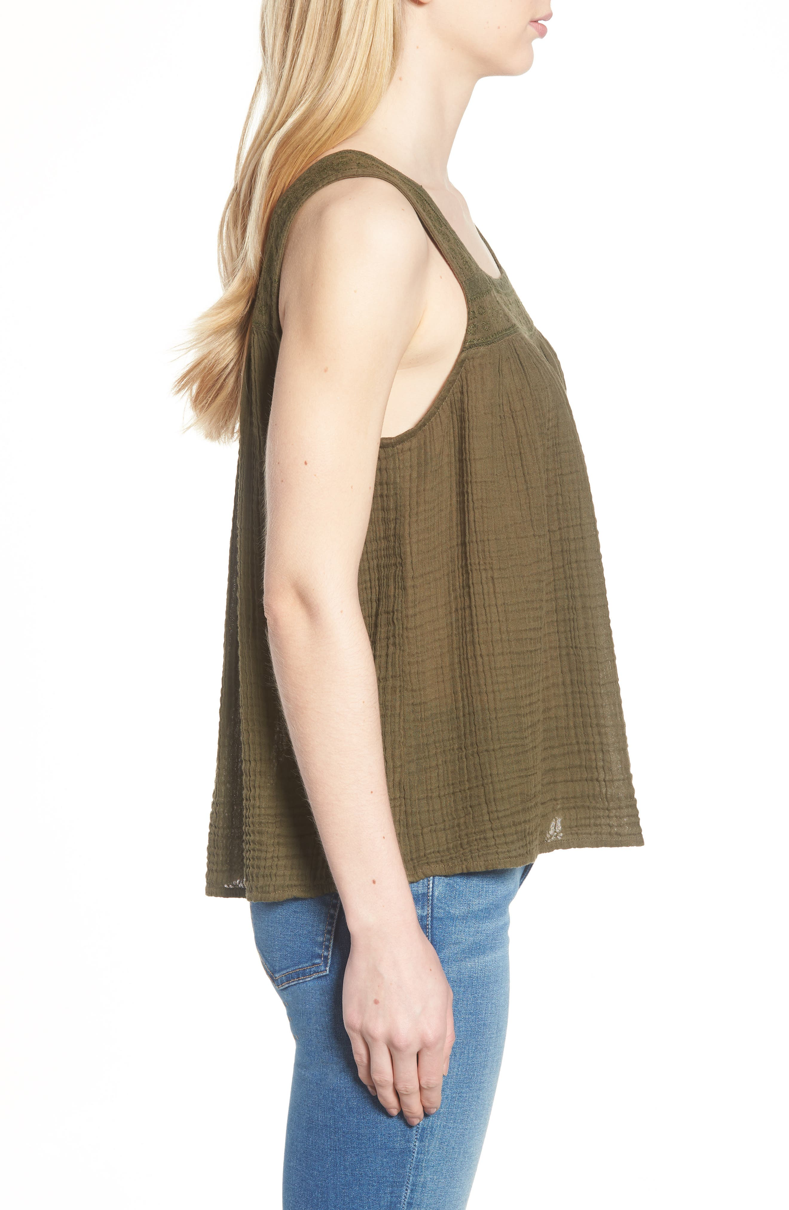 Embroidered Neck Swing Tank,                             Alternate thumbnail 13, color,