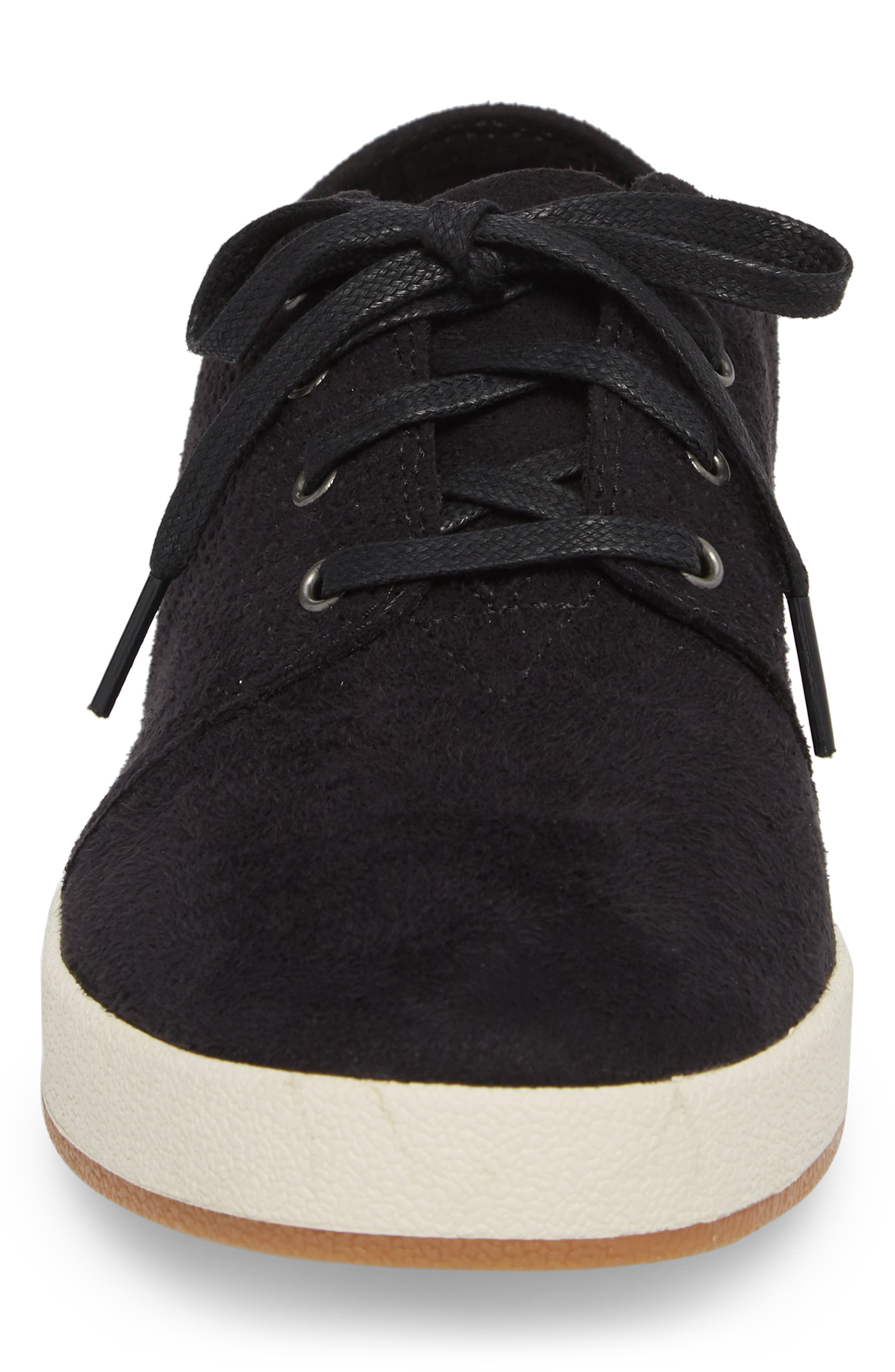 Payton Perforated Sneaker,                             Alternate thumbnail 4, color,                             001