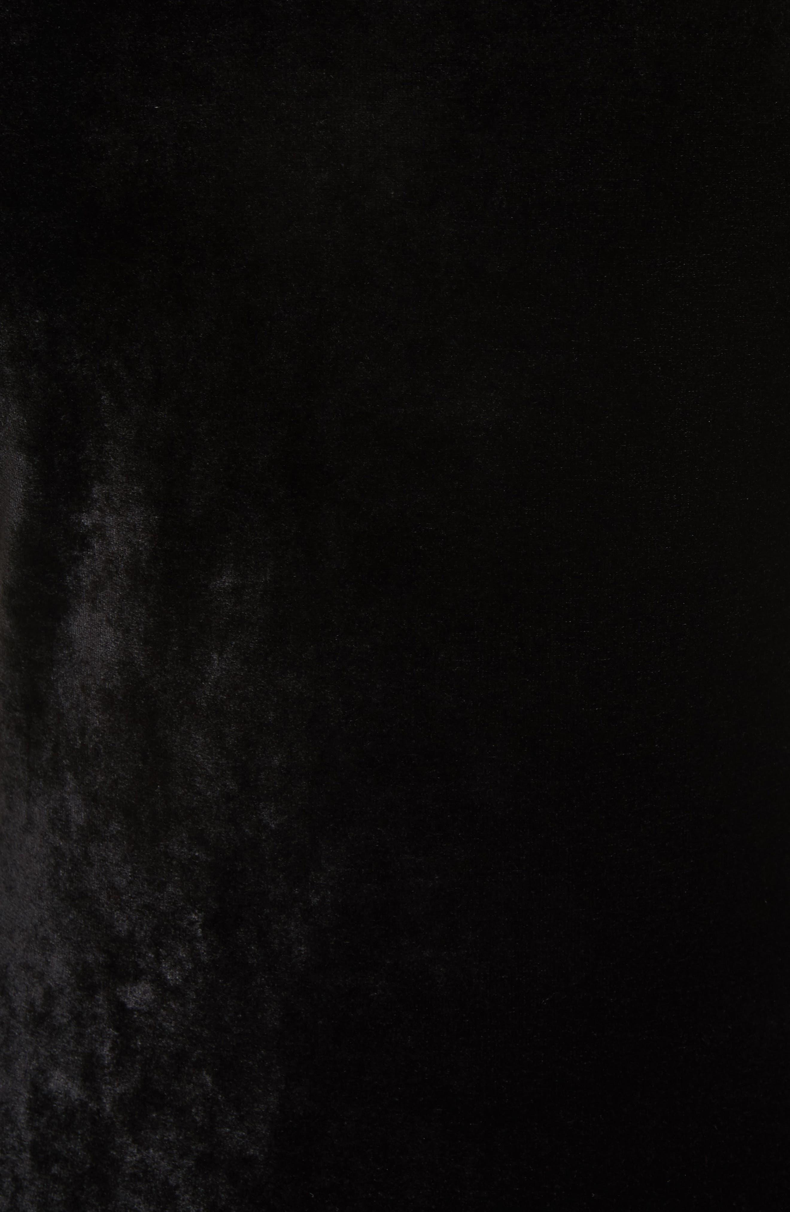 Velvet Turtleneck Top,                             Alternate thumbnail 5, color,                             001