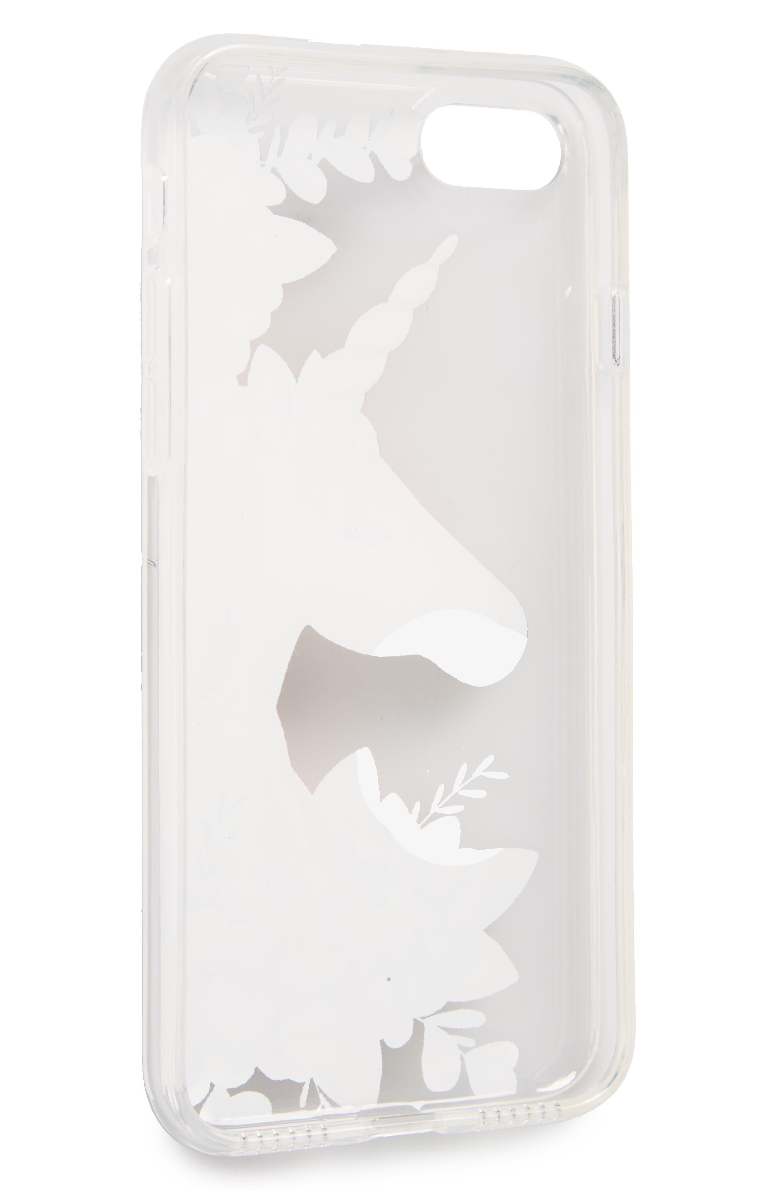 Unicorn & Flowers iPhone 7 Case,                             Alternate thumbnail 2, color,                             650