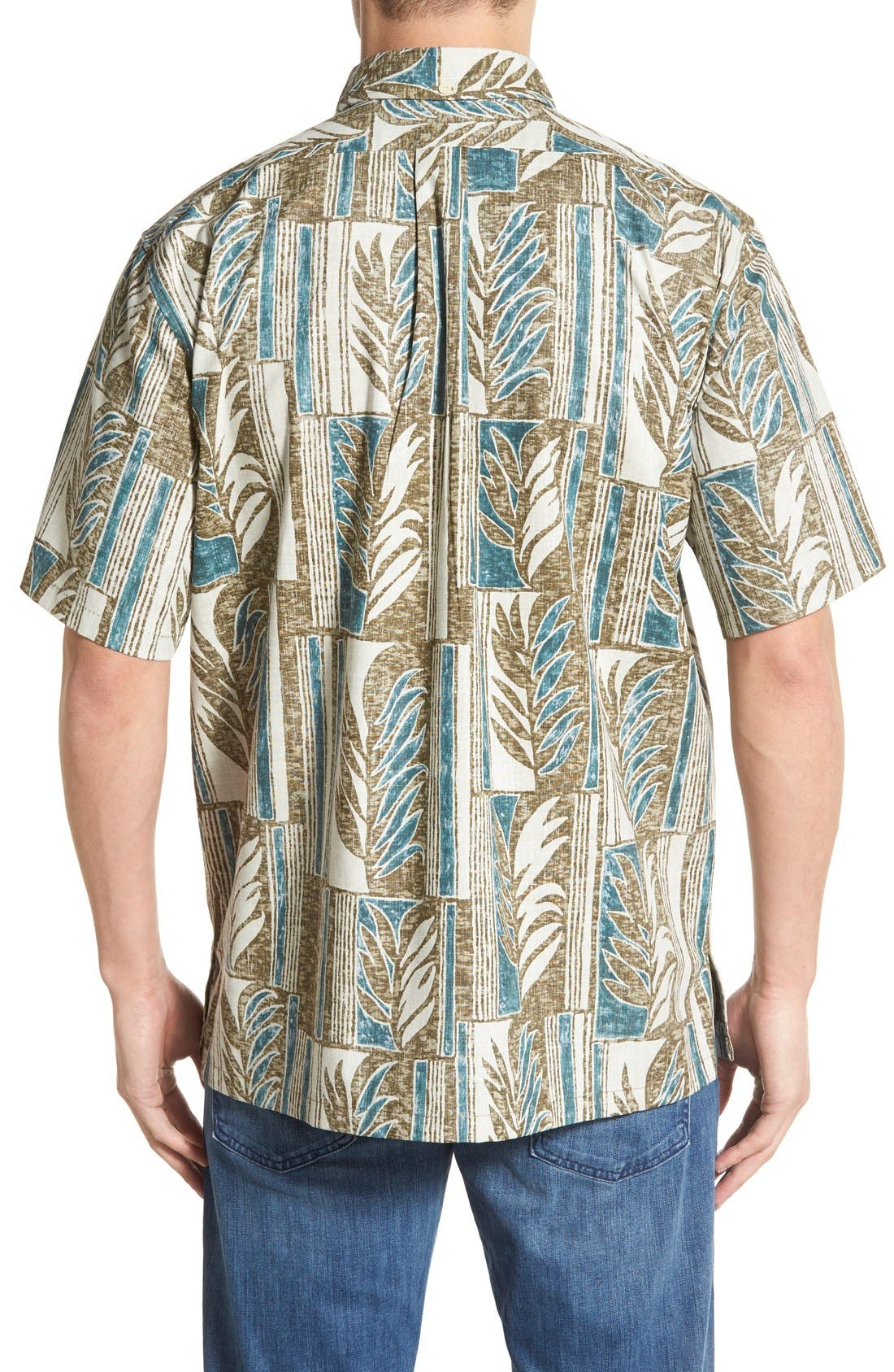 REYN SPOONER,                             'Lau Palaka' Classic Fit Wrinkle Free Pullover Shirt,                             Alternate thumbnail 5, color,                             321