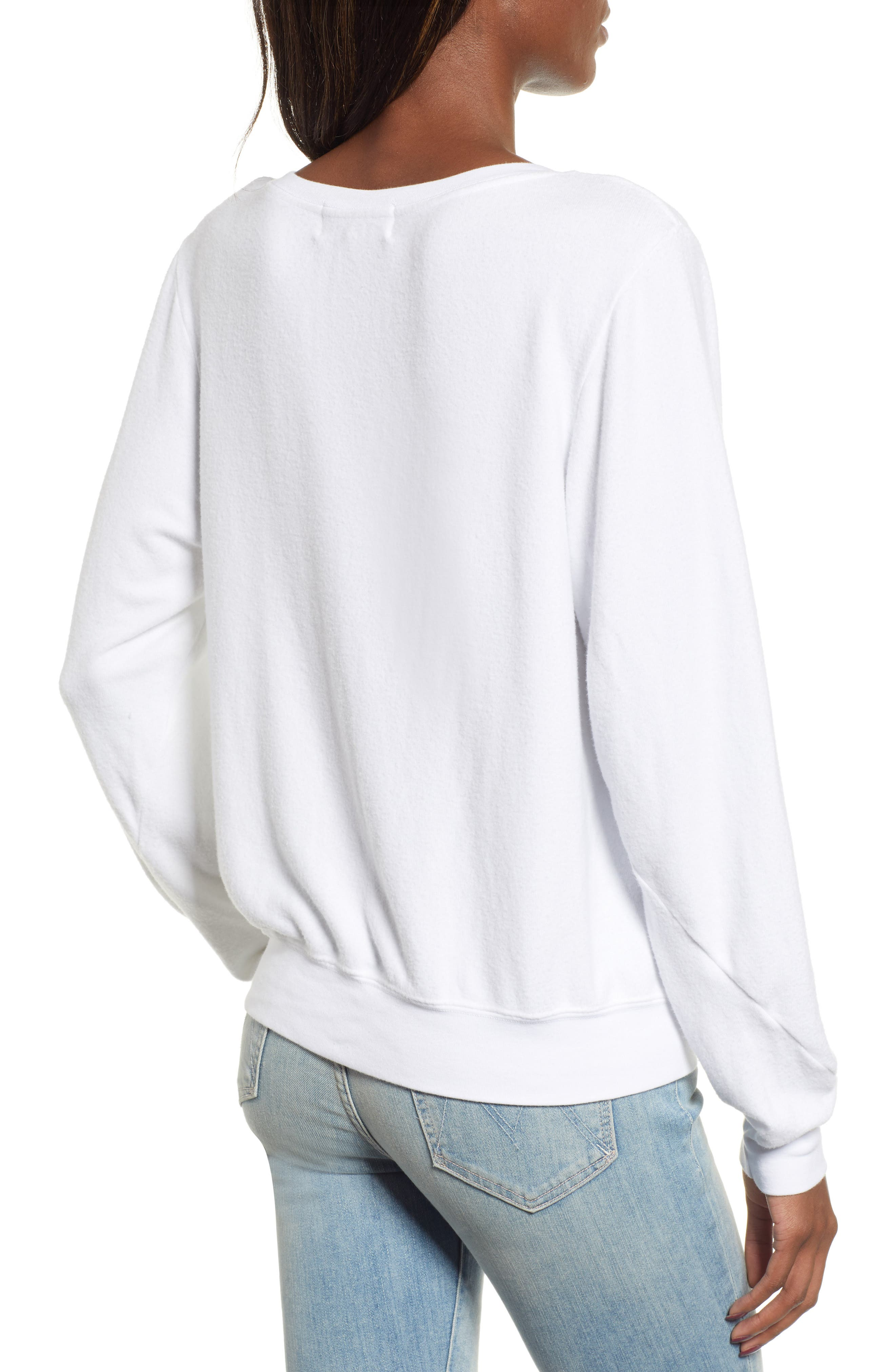 Baggy Beach Jumper - Yule Love It Pullover,                             Alternate thumbnail 2, color,                             CLEAN WHITE