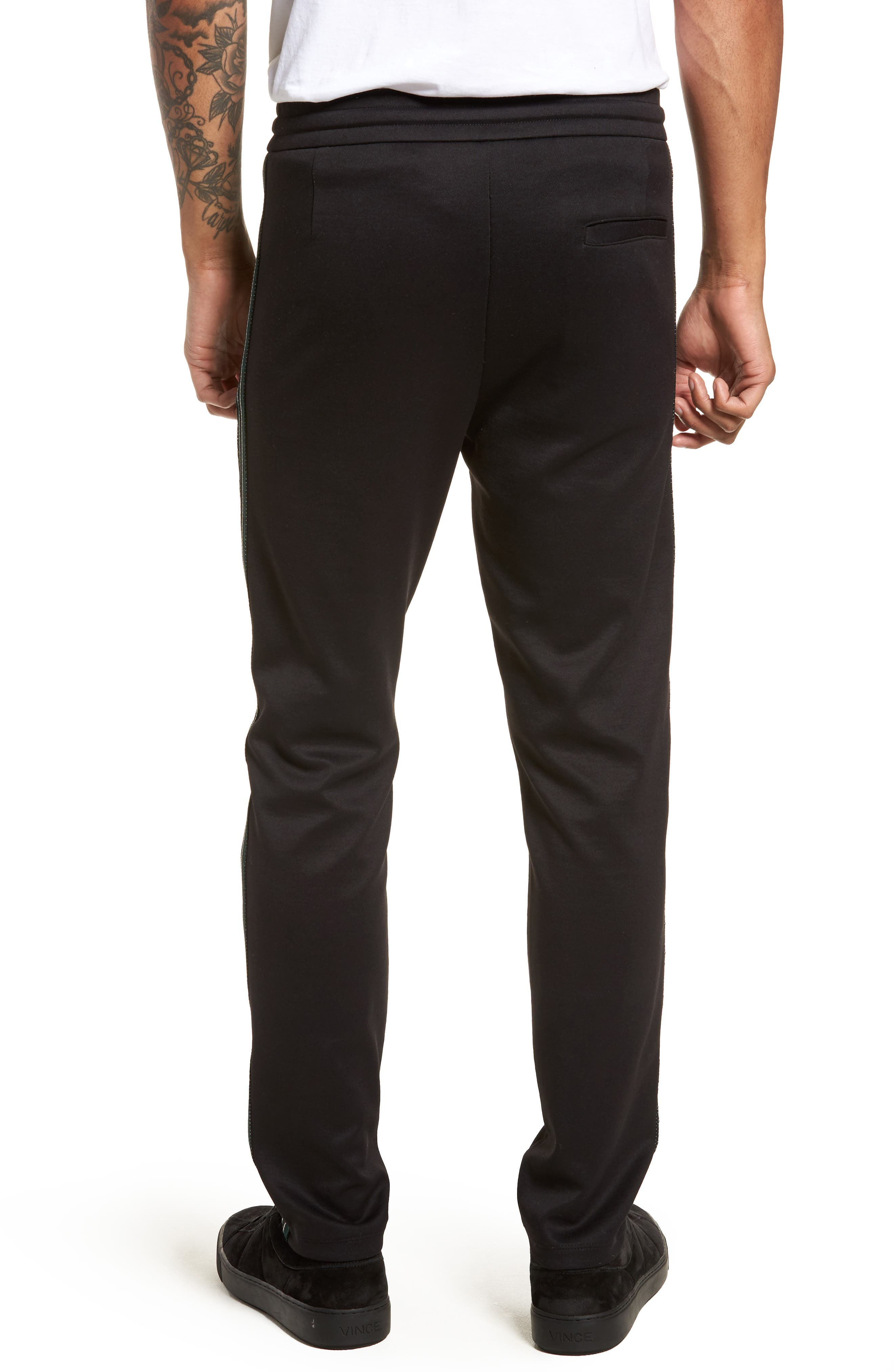 Slim Fit Track Pants,                             Alternate thumbnail 2, color,                             BLACK