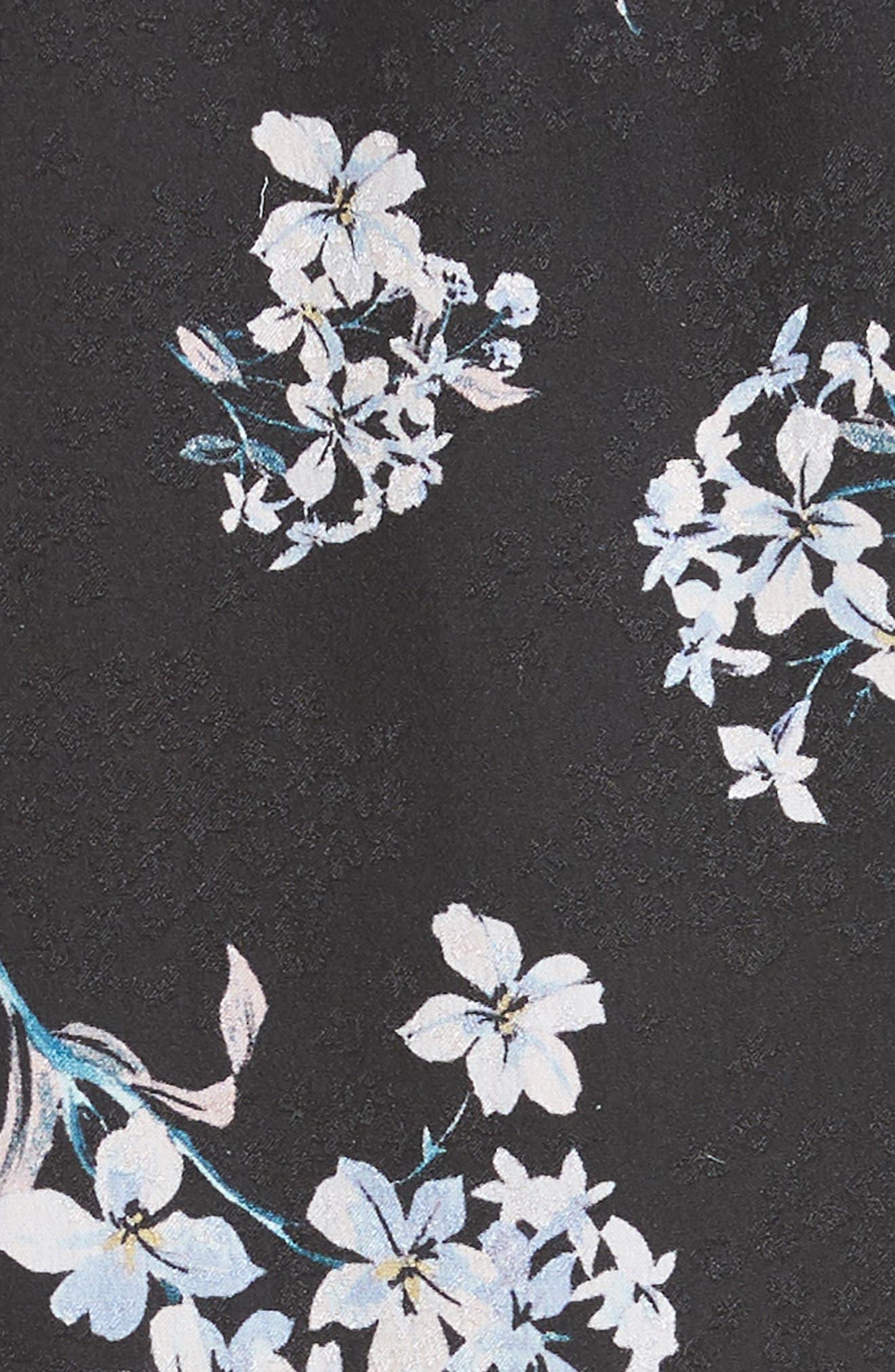 Hydrangea Silk Dress,                             Alternate thumbnail 6, color,                             014