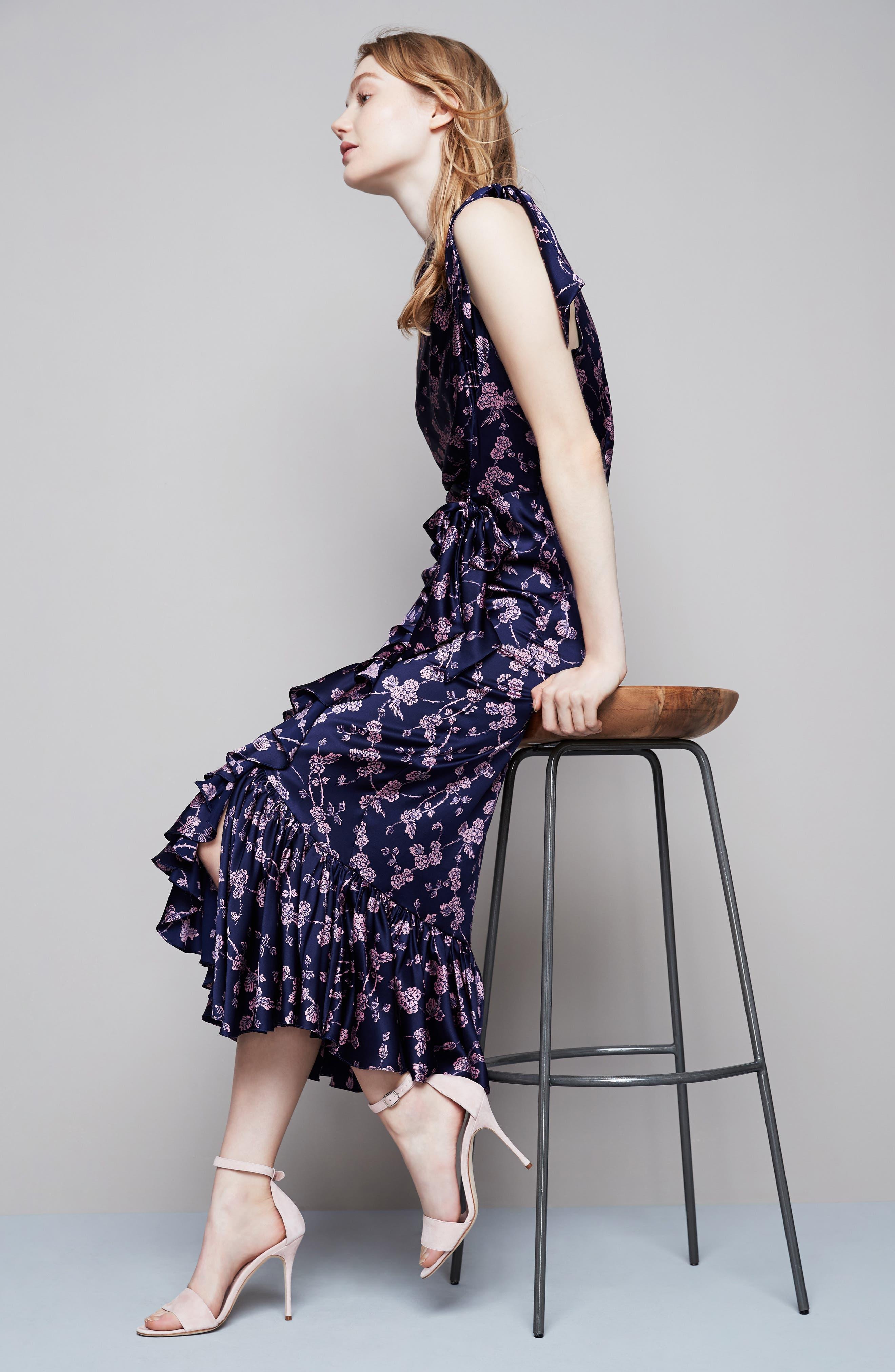Nanon Knotted Silk Dress,                             Alternate thumbnail 7, color,                             699