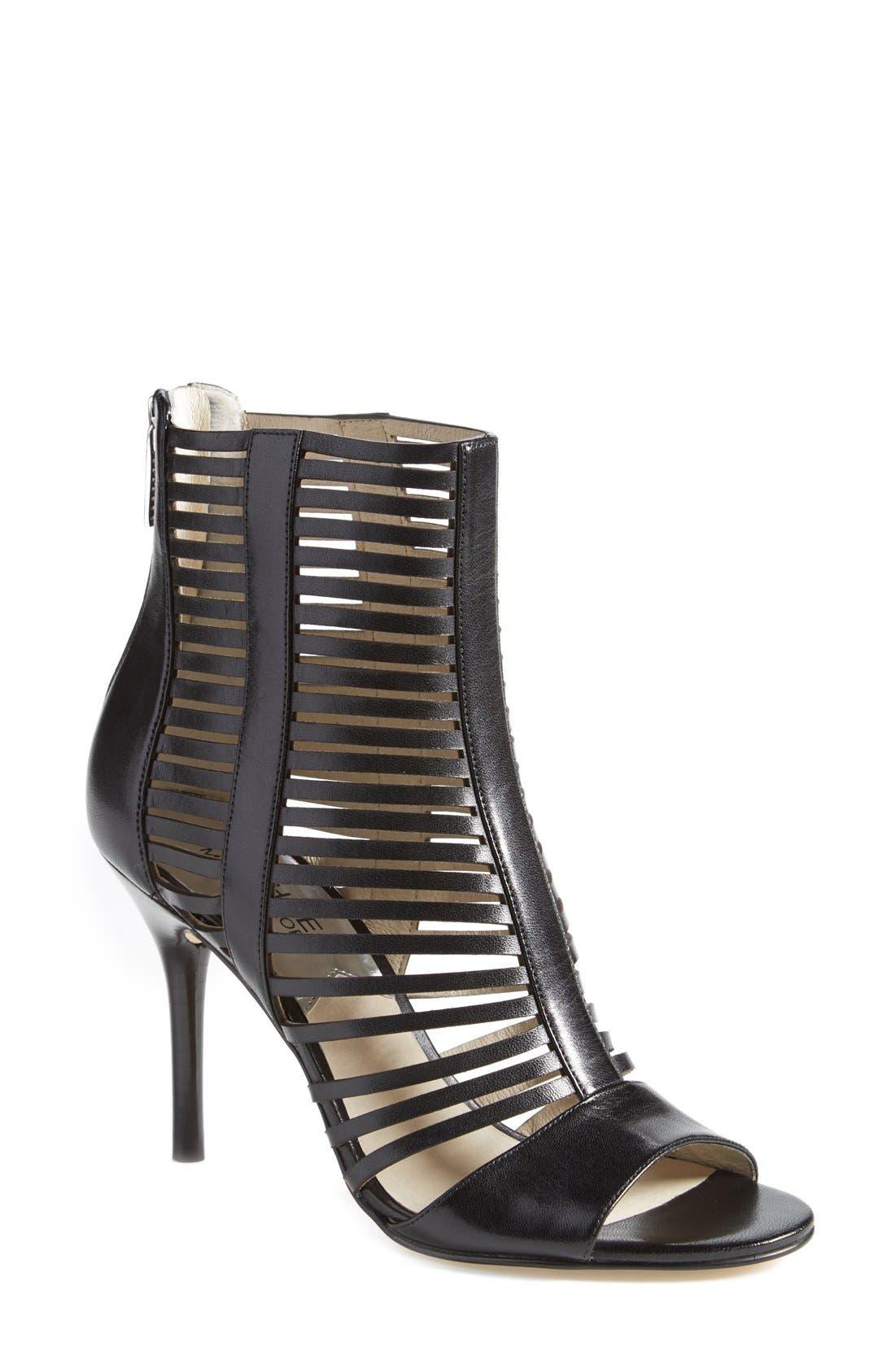 'Odelia' Caged Sandal,                         Main,                         color, 001