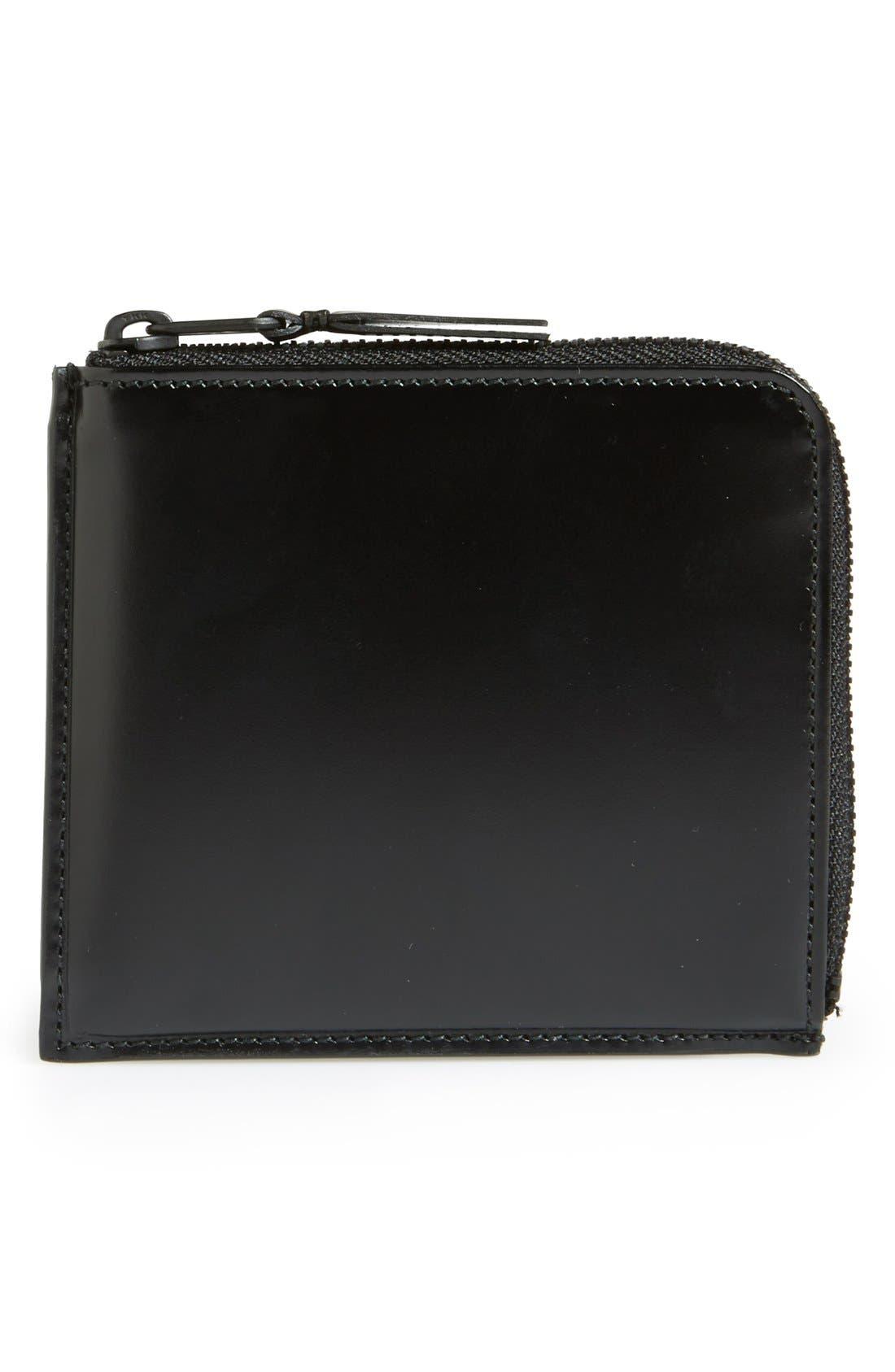 Half Zip French Wallet,                             Main thumbnail 1, color,                             001