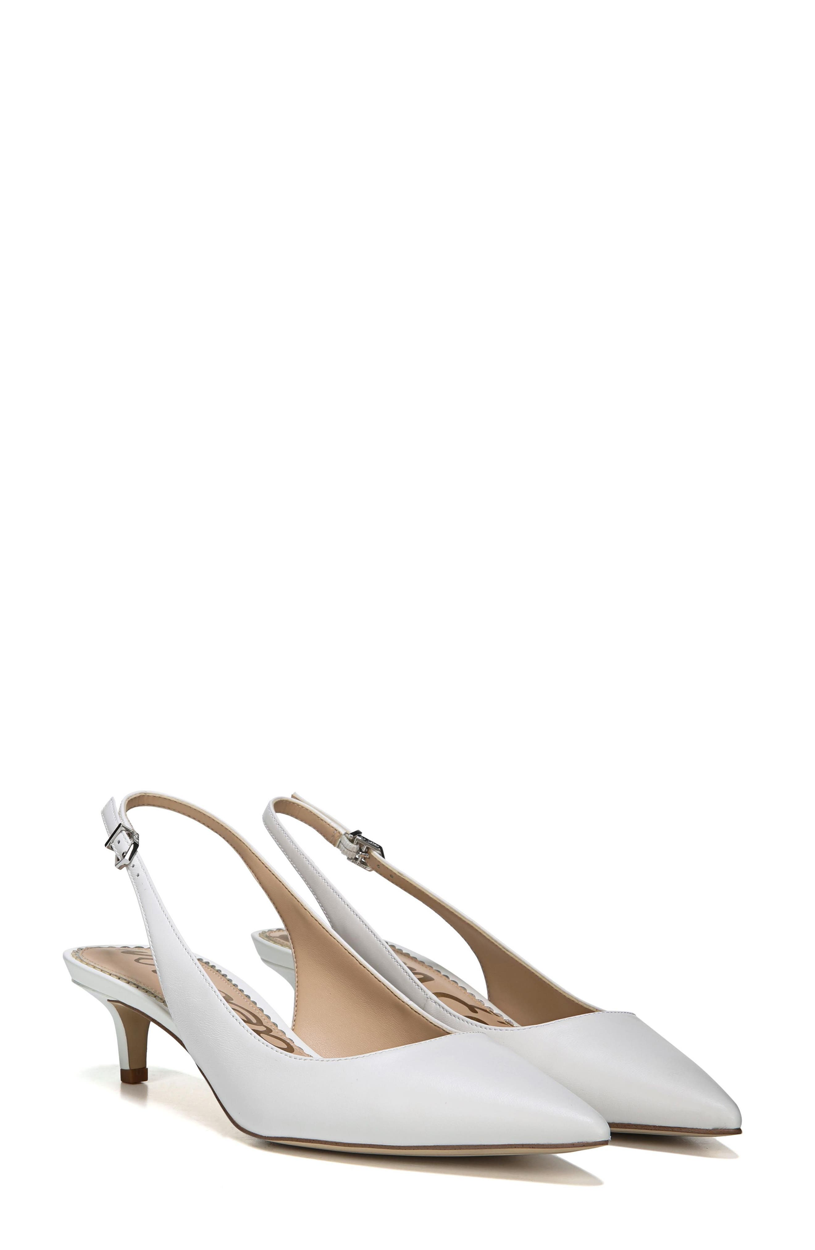 Ludlow Slingback Pump,                         Main,                         color, BRIGHT WHITE LEATHER