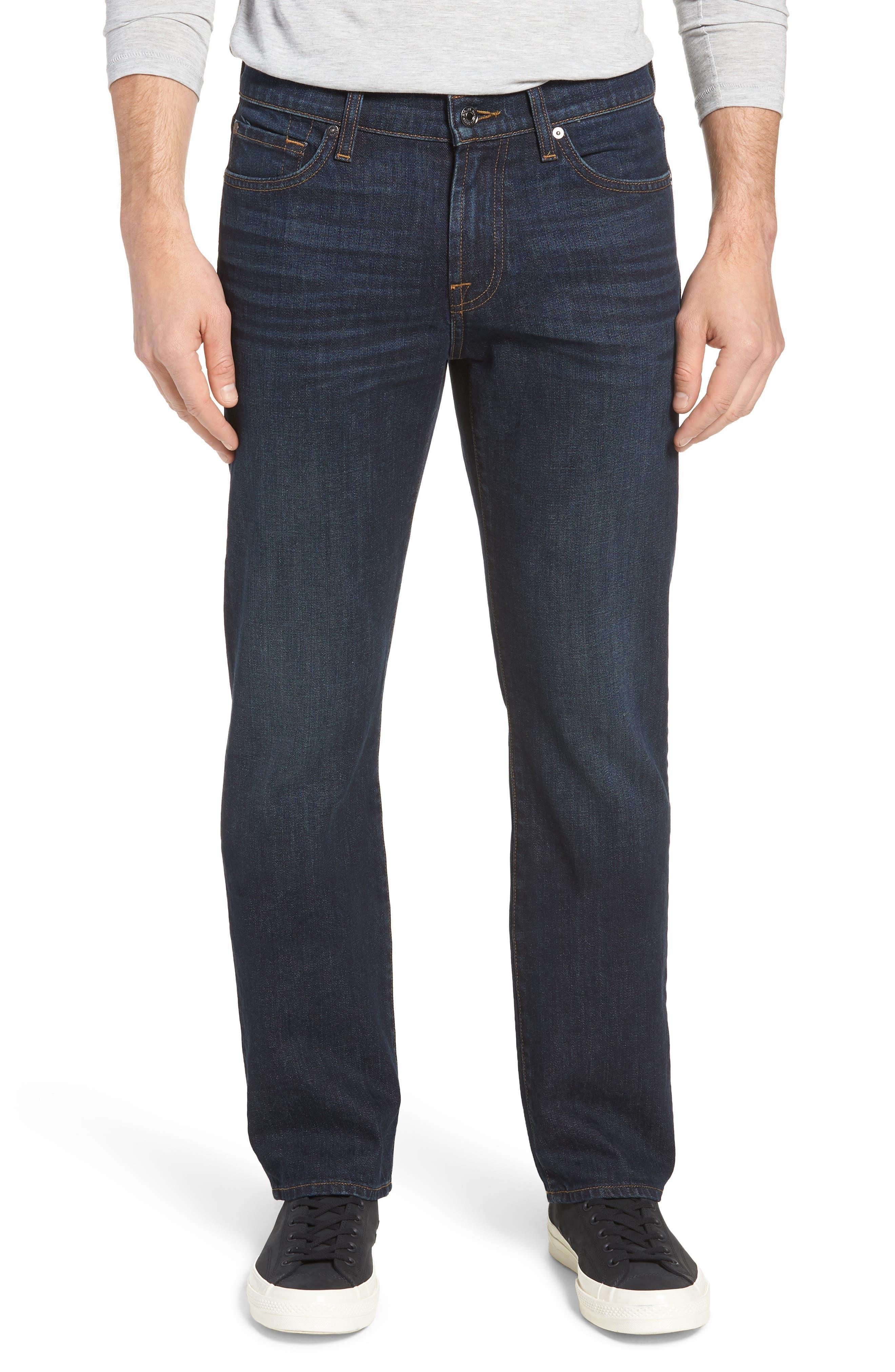 Standard Straight Leg Jeans,                         Main,                         color, ABERDEEN