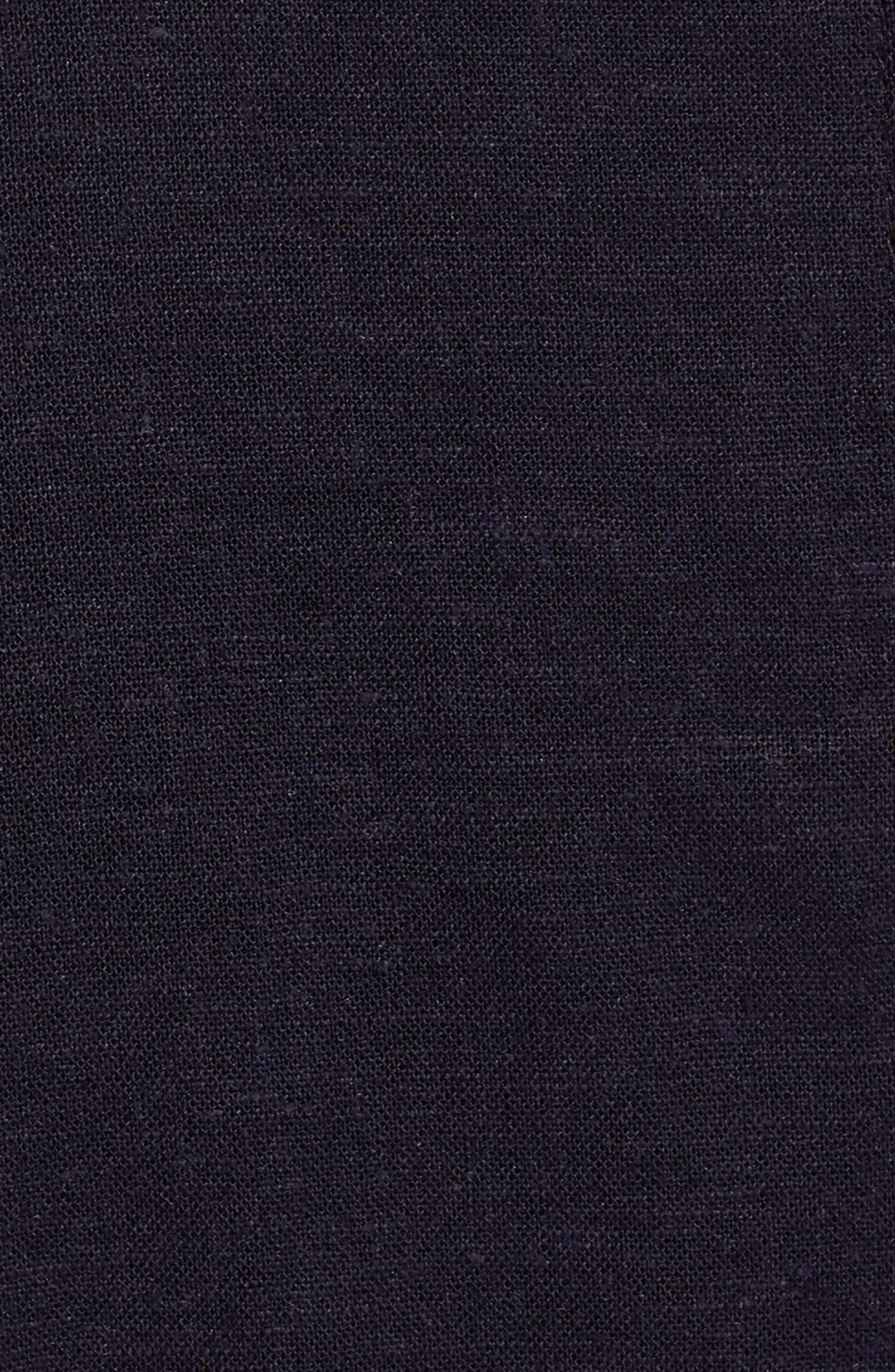 Colorblock Linen Blend Skirt,                             Alternate thumbnail 5, color,