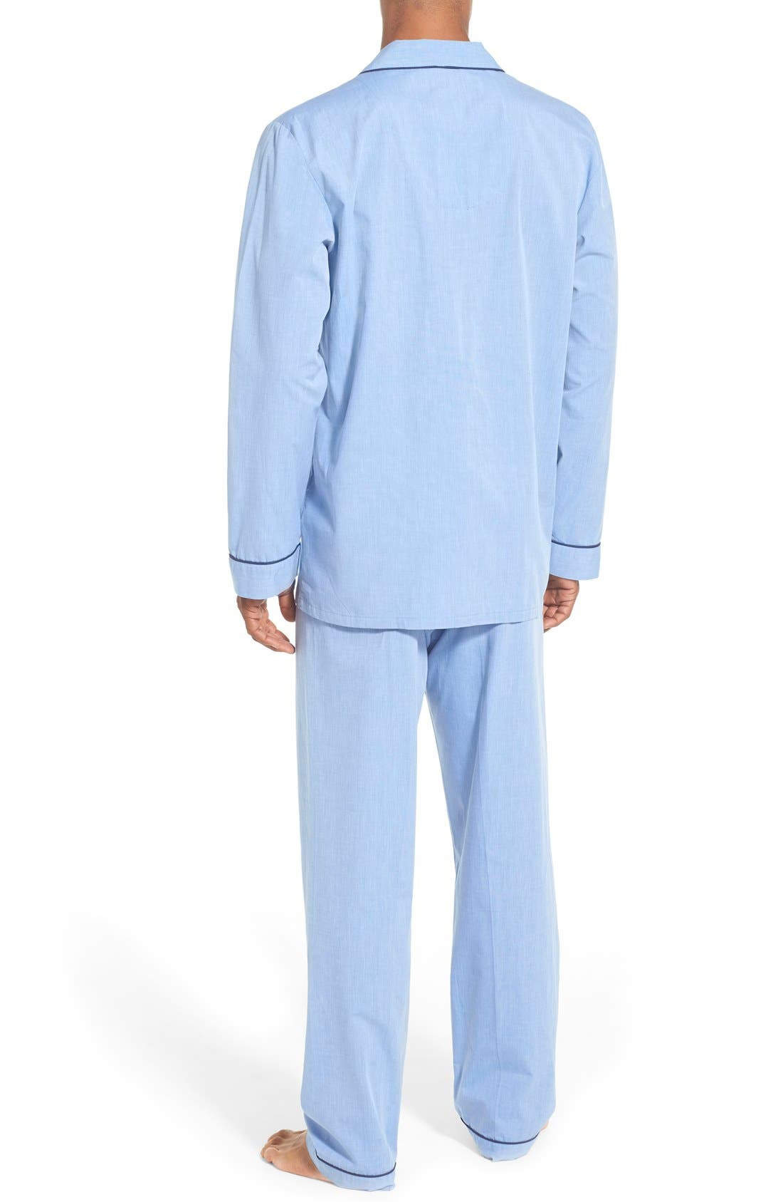 Cotton Pajamas,                             Alternate thumbnail 2, color,                             BLUE