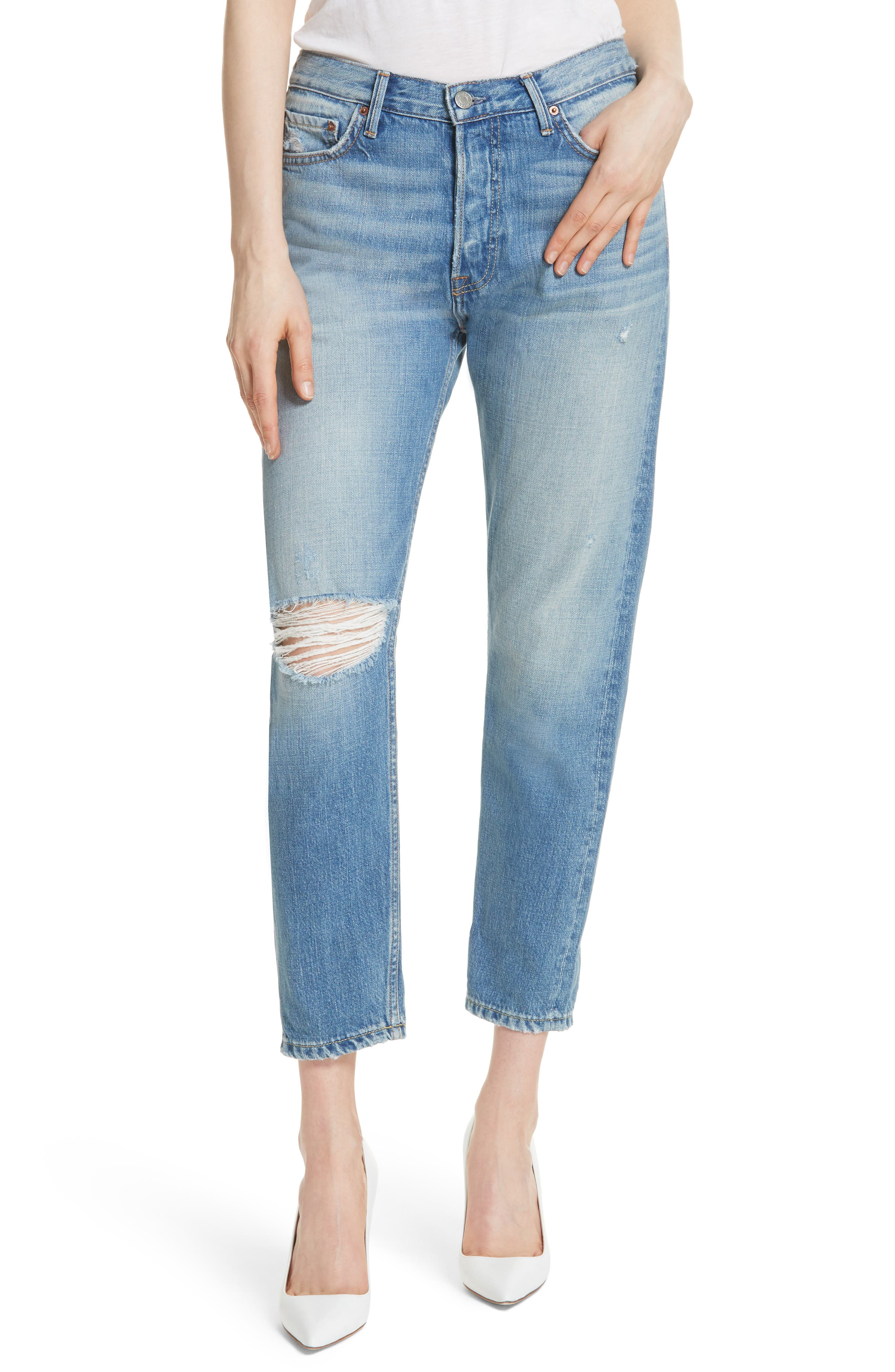Kiara High Waist Ankle Boyfriend Jeans,                         Main,                         color, 464