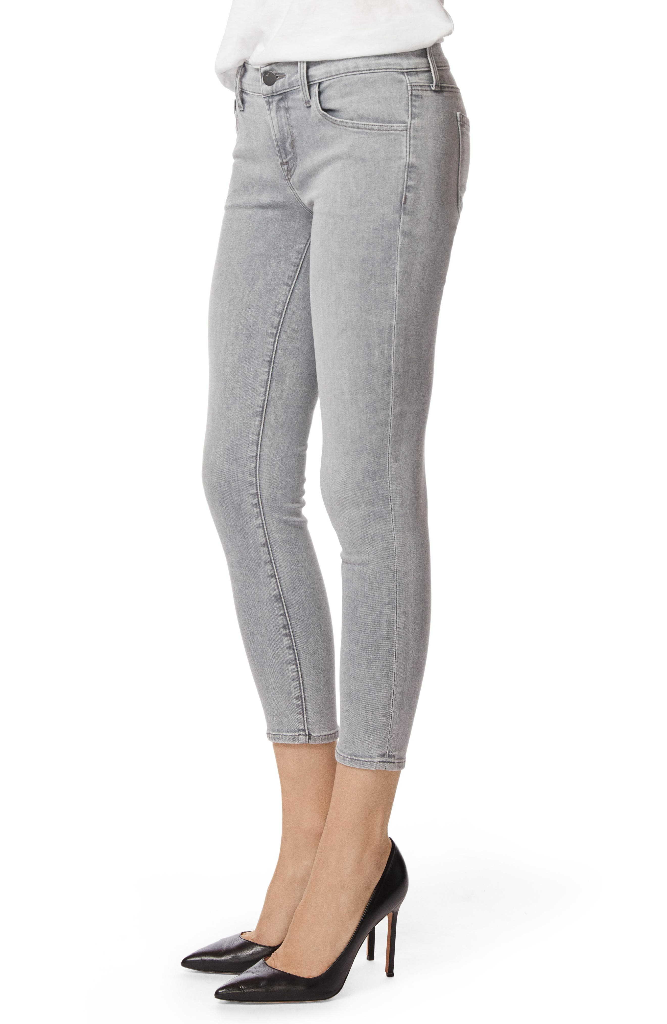 9326 Low Rise Crop Skinny Jeans,                             Alternate thumbnail 3, color,                             010