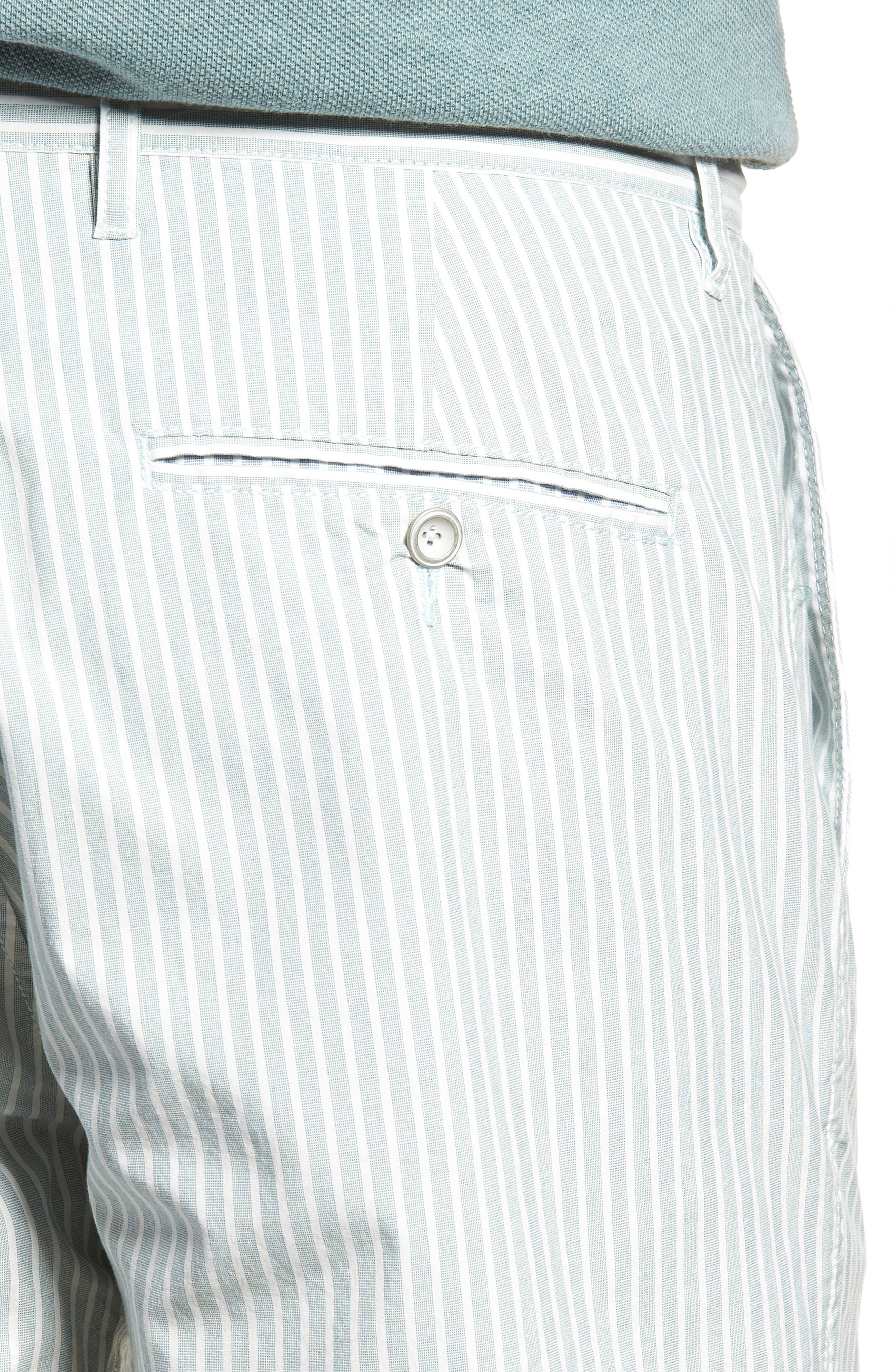Preston Regular Fit Flat Front Shorts,                             Alternate thumbnail 4, color,                             PINE