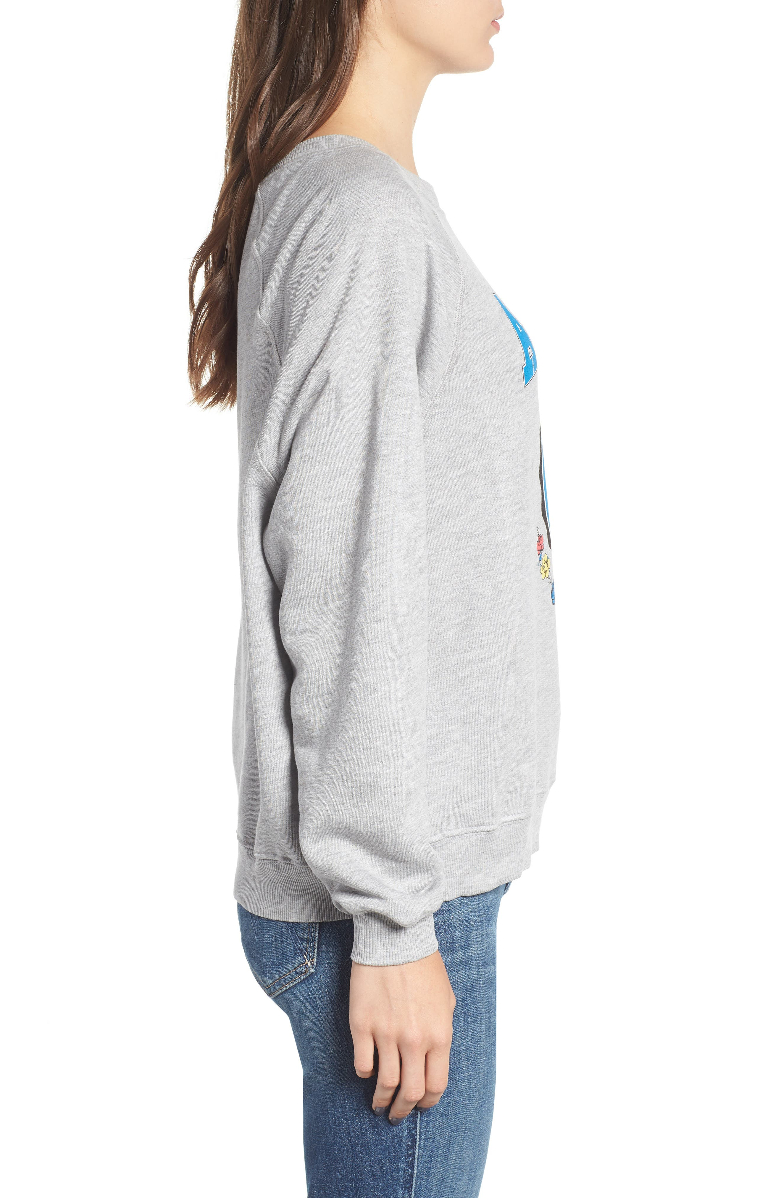 Austin Crest Sommers Sweatshirt,                             Alternate thumbnail 3, color,                             HEATHER