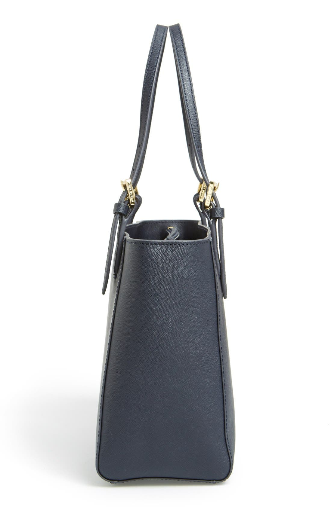 'Small York' Saffiano Leather Buckle Tote,                             Alternate thumbnail 24, color,