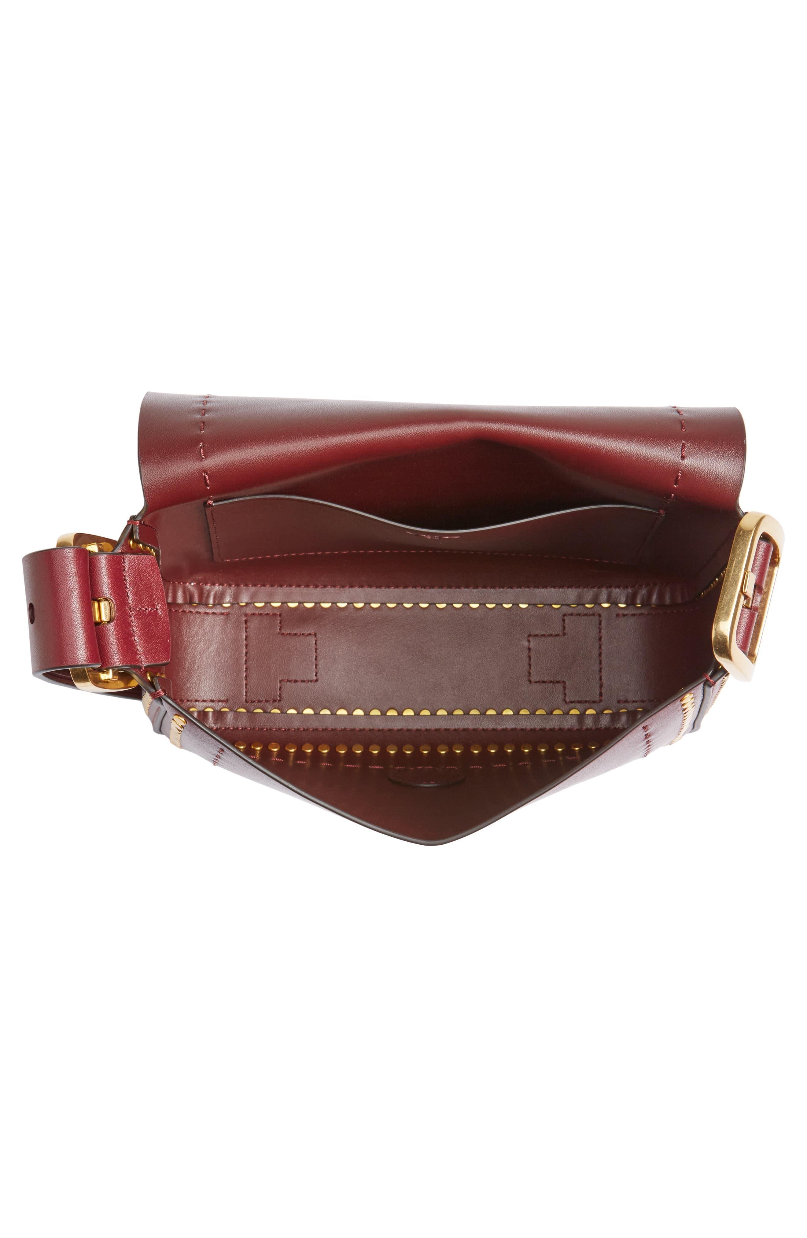 Small Sawyer Studded Leather Shoulder Bag,                             Alternate thumbnail 4, color,                             616