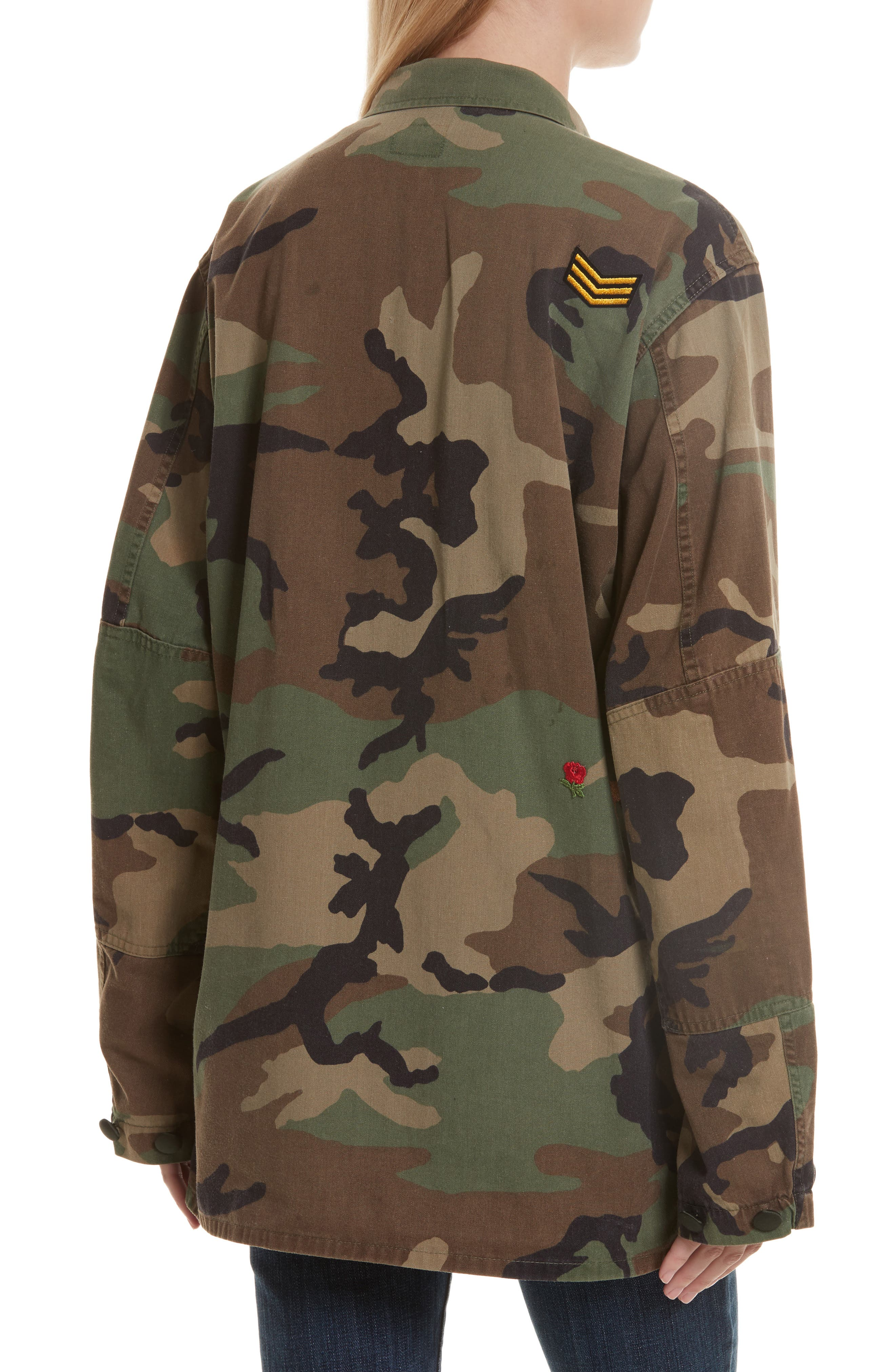 Vintage Woodland Camo Jacket,                             Alternate thumbnail 2, color,                             300