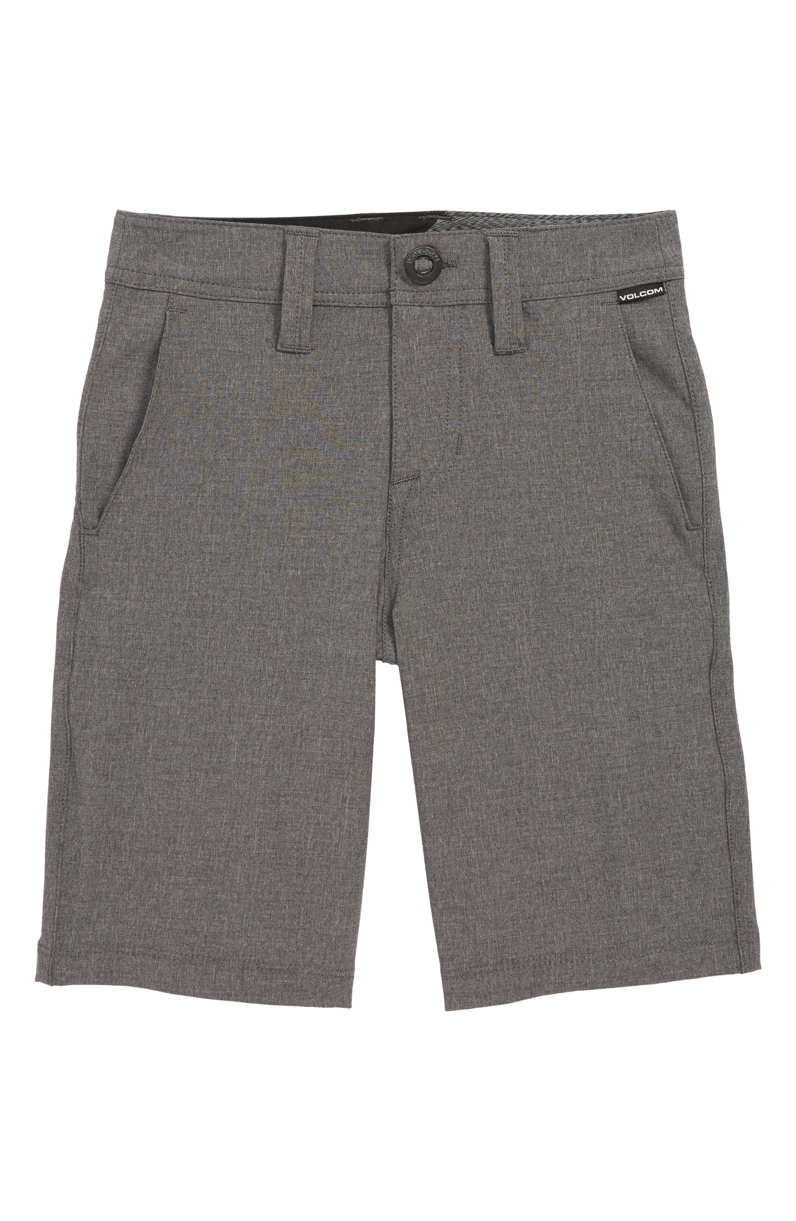 Frickin Surf N' Turf Static Hybrid Board Shorts,                             Main thumbnail 1, color,                             CHARCOAL HEATHER