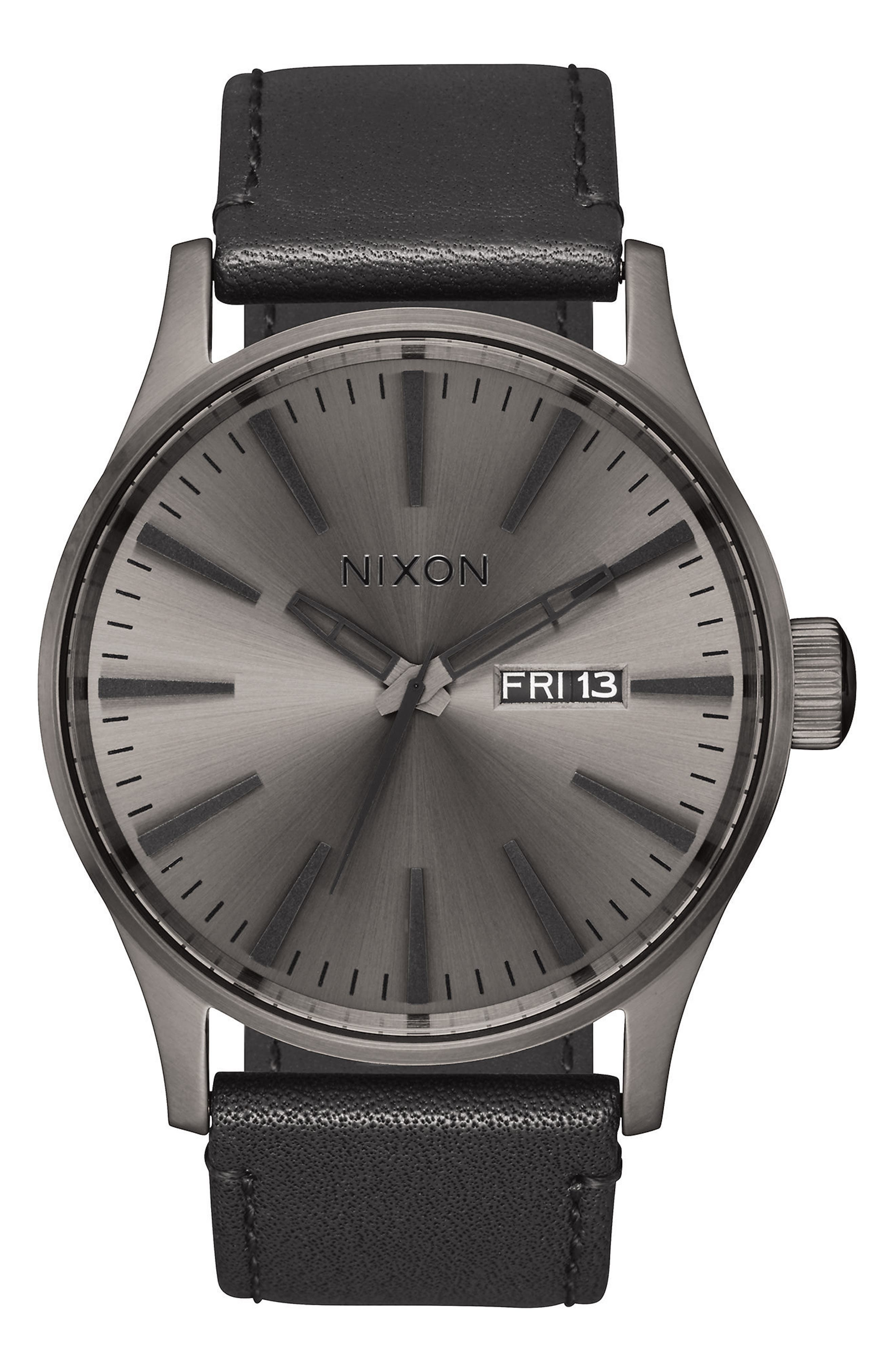 The Sentry Leather Strap Watch, 42mm,                             Alternate thumbnail 47, color,
