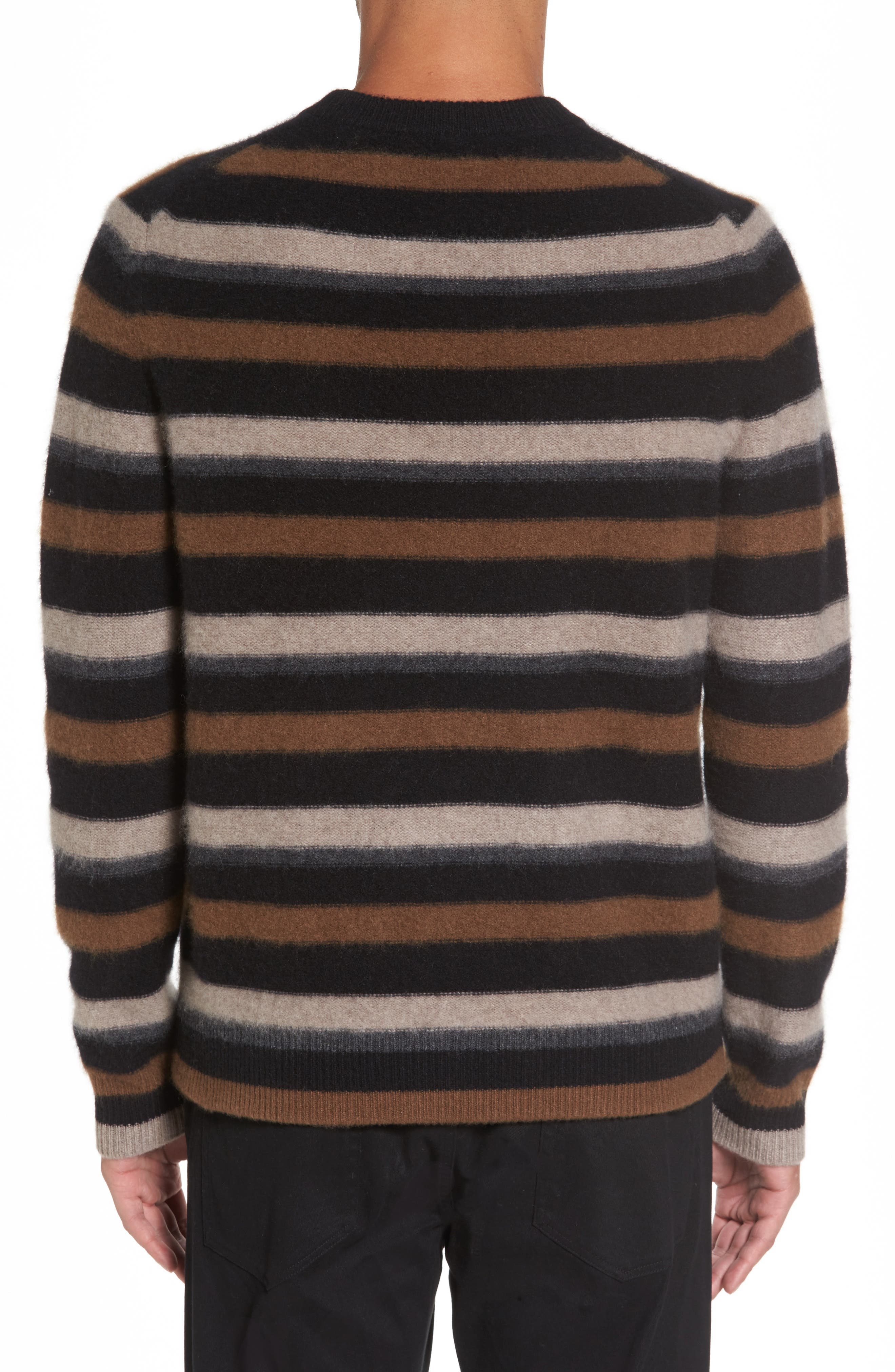 Stripe Cashmere Sweater,                             Alternate thumbnail 2, color,                             003