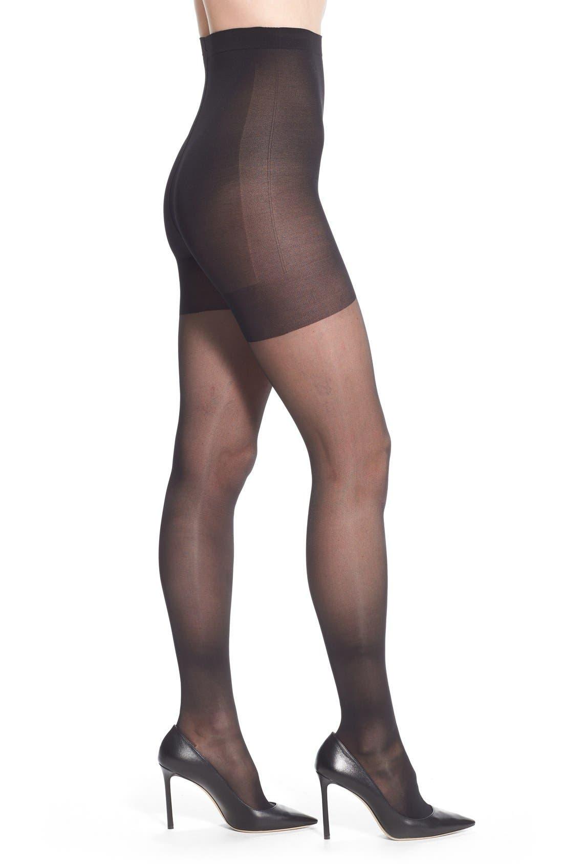 Sheer Stockings,                             Main thumbnail 1, color,                             BLACK